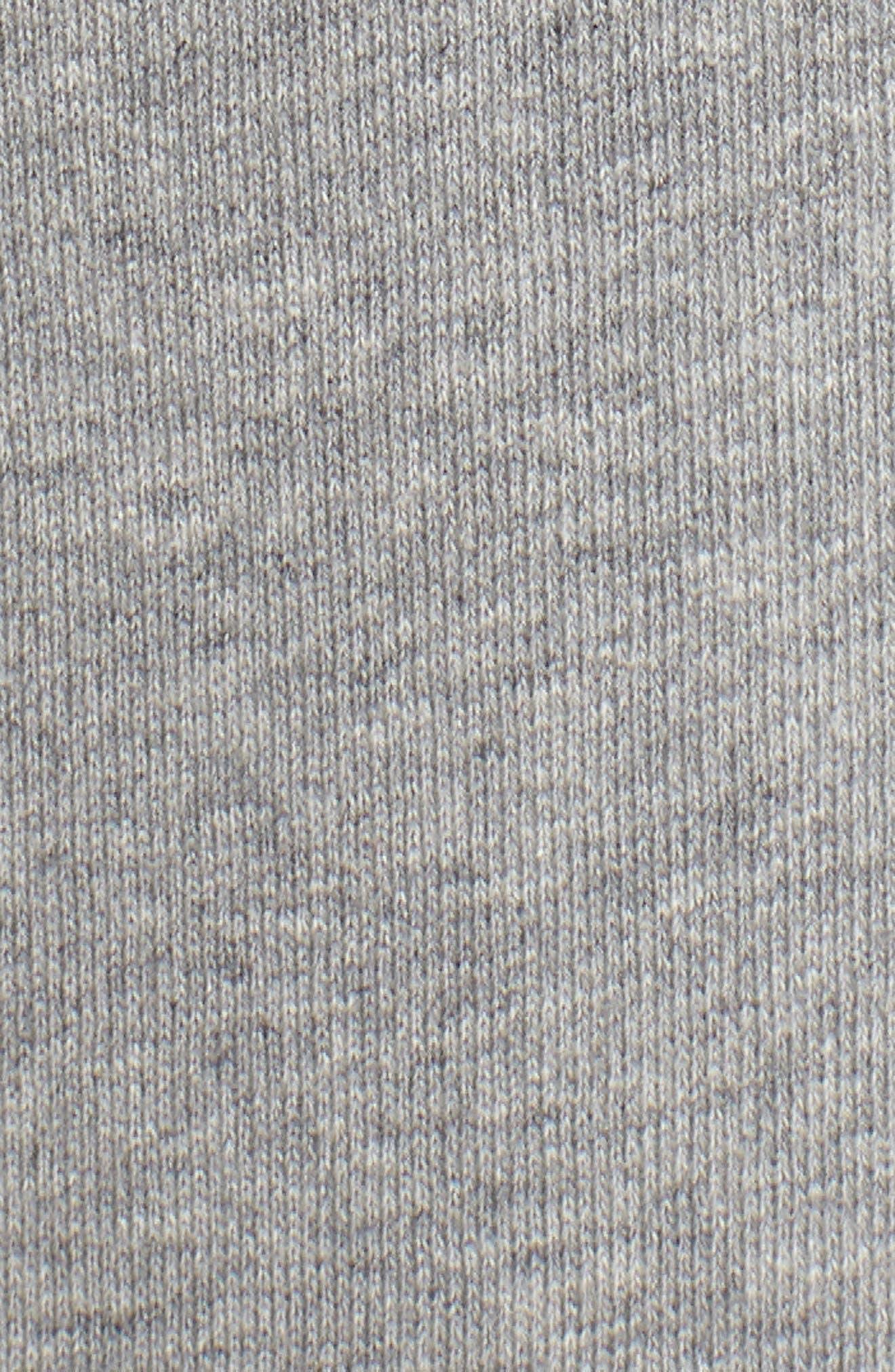 smocked wide leg crop sweatpants,                             Alternate thumbnail 5, color,                             Flint Heather