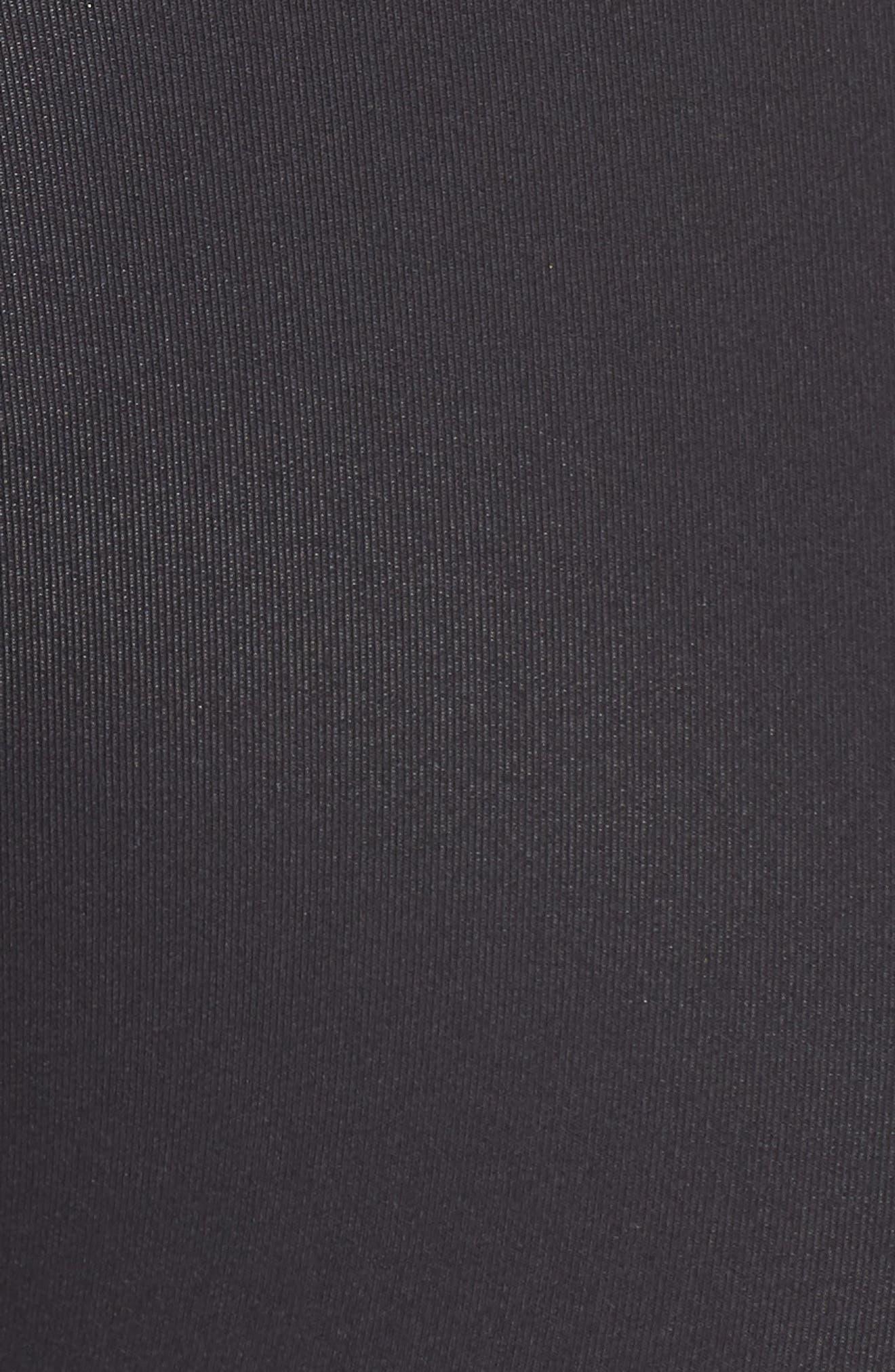 Take Leaf Longline Bralette,                             Alternate thumbnail 3, color,                             Black
