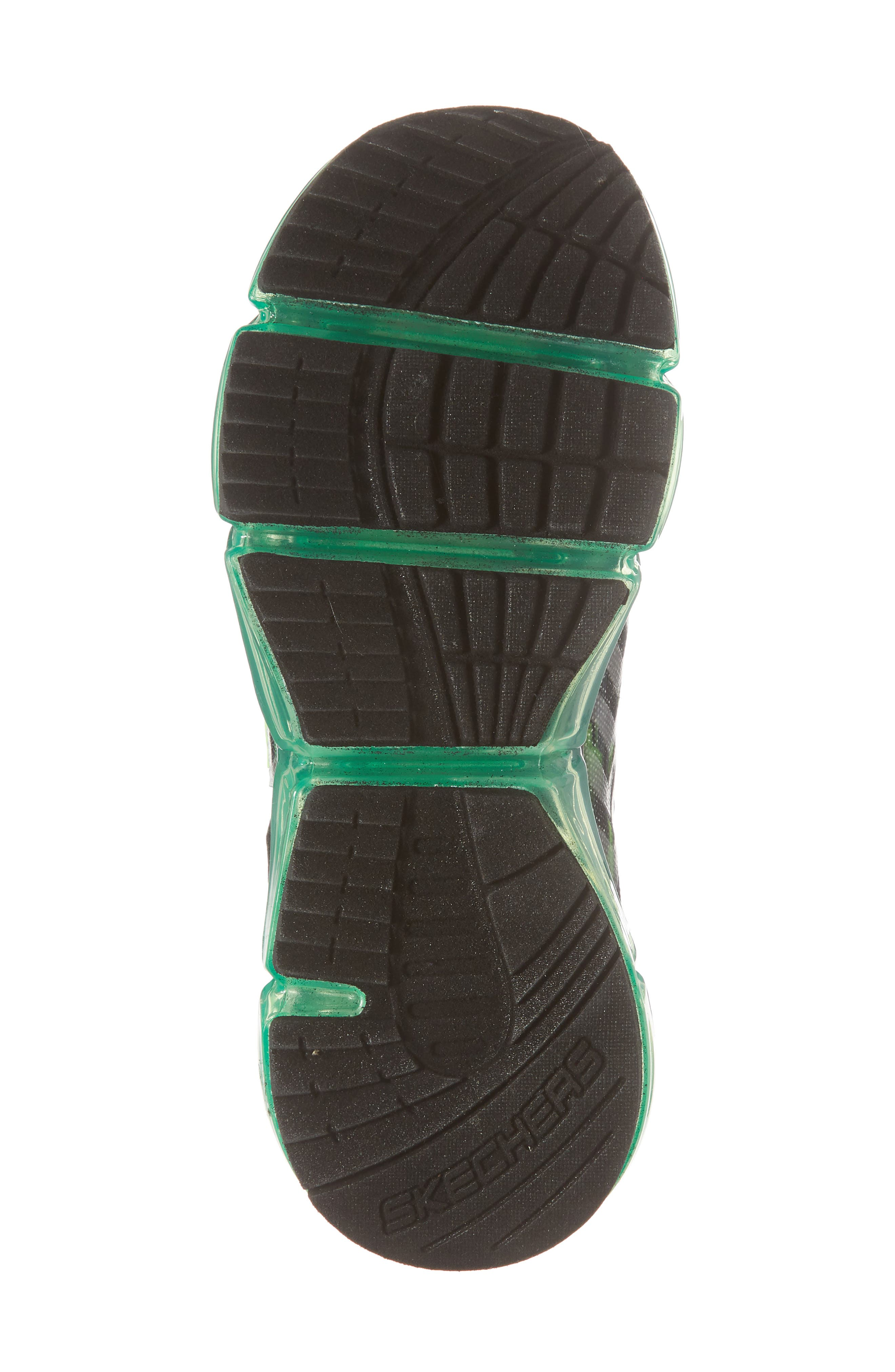 Skech-Air Mega Sneaker,                             Alternate thumbnail 6, color,                             Black/ Charcoal/ Lime