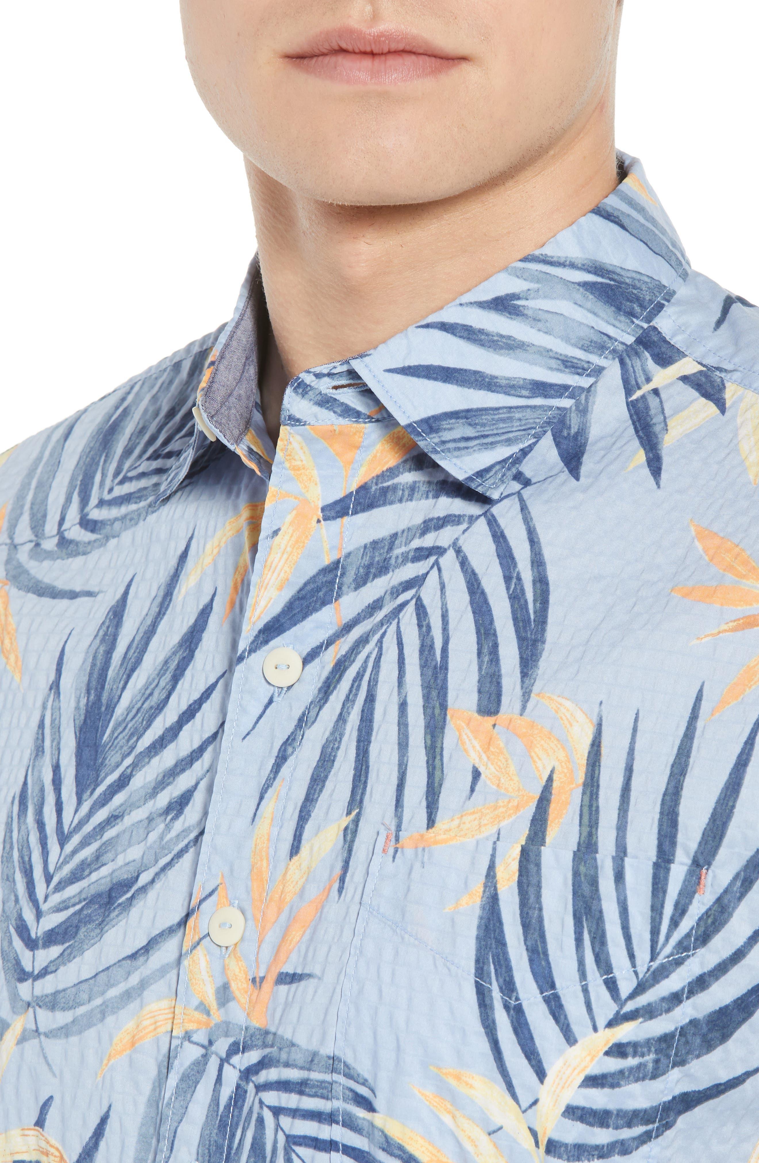 Alternate Image 2  - Tommy Bahama Fiesta Fronds Seersucker Sport Shirt