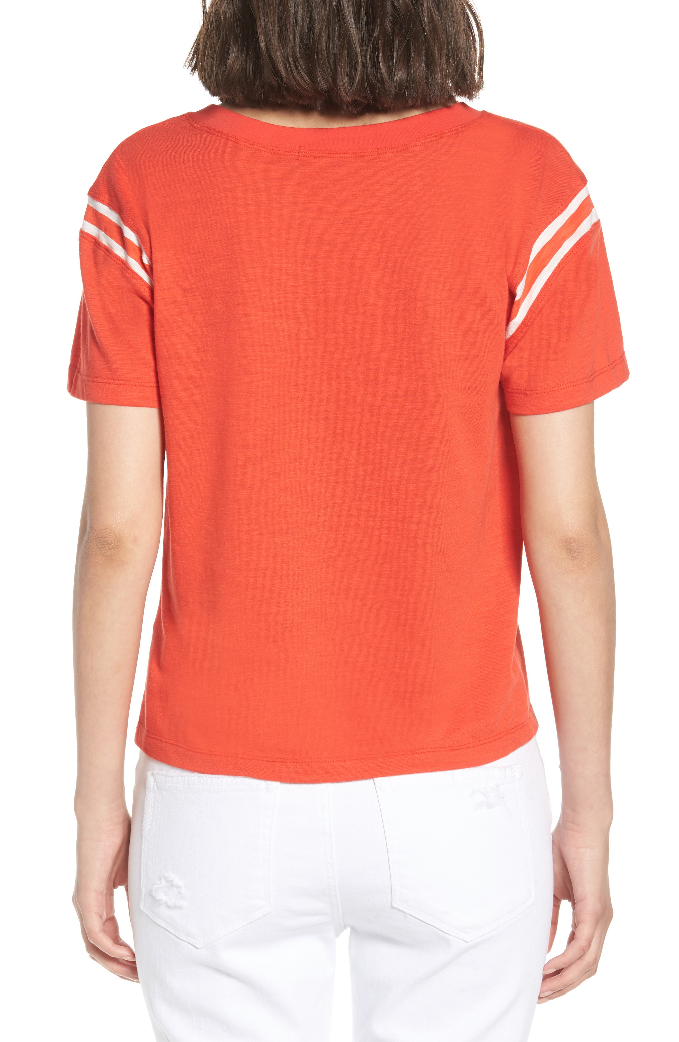Football Tee,                             Alternate thumbnail 2, color,                             Candy Red