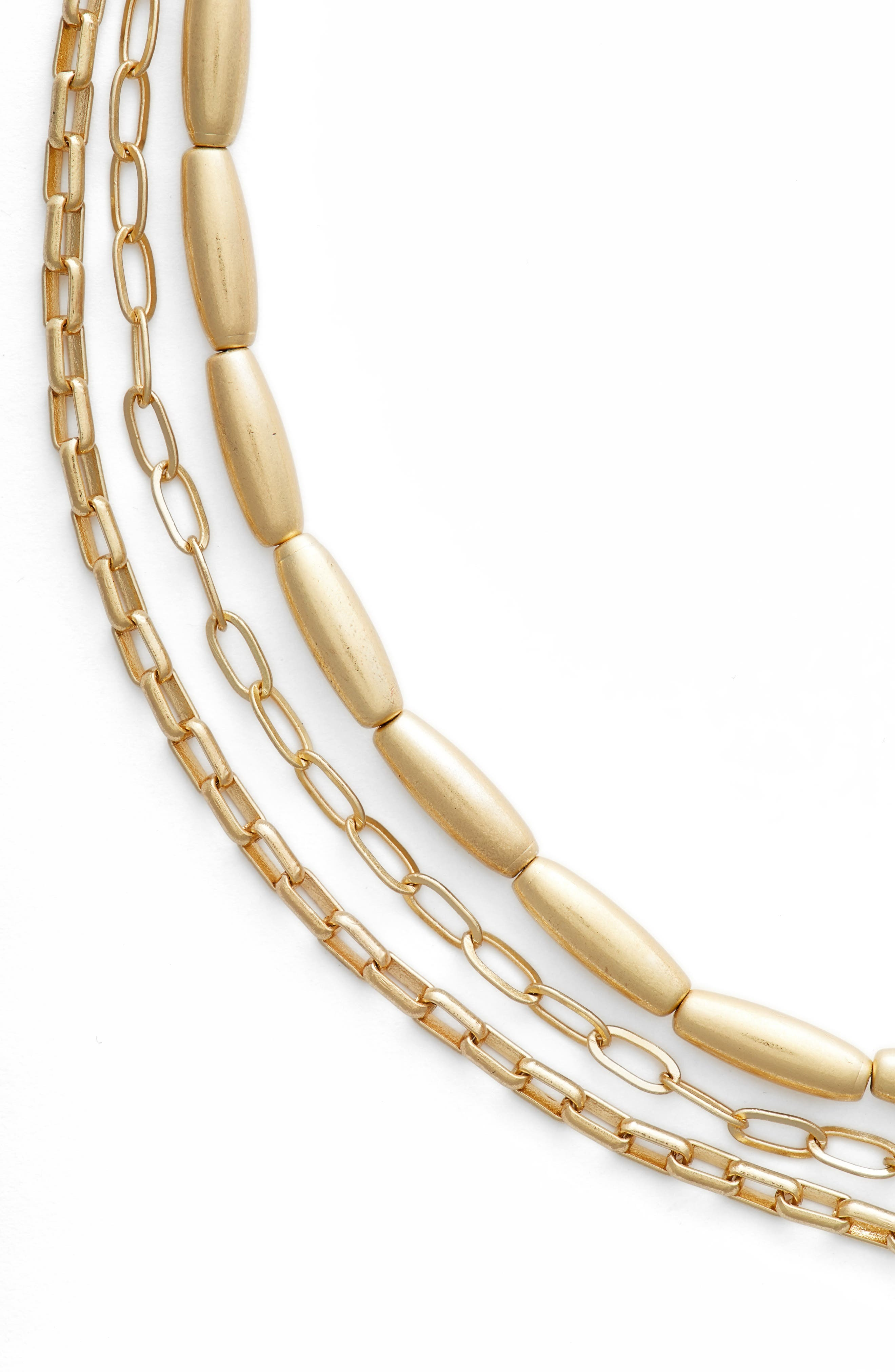 Sadie Strands Layered Necklace,                             Alternate thumbnail 2, color,                             Gold