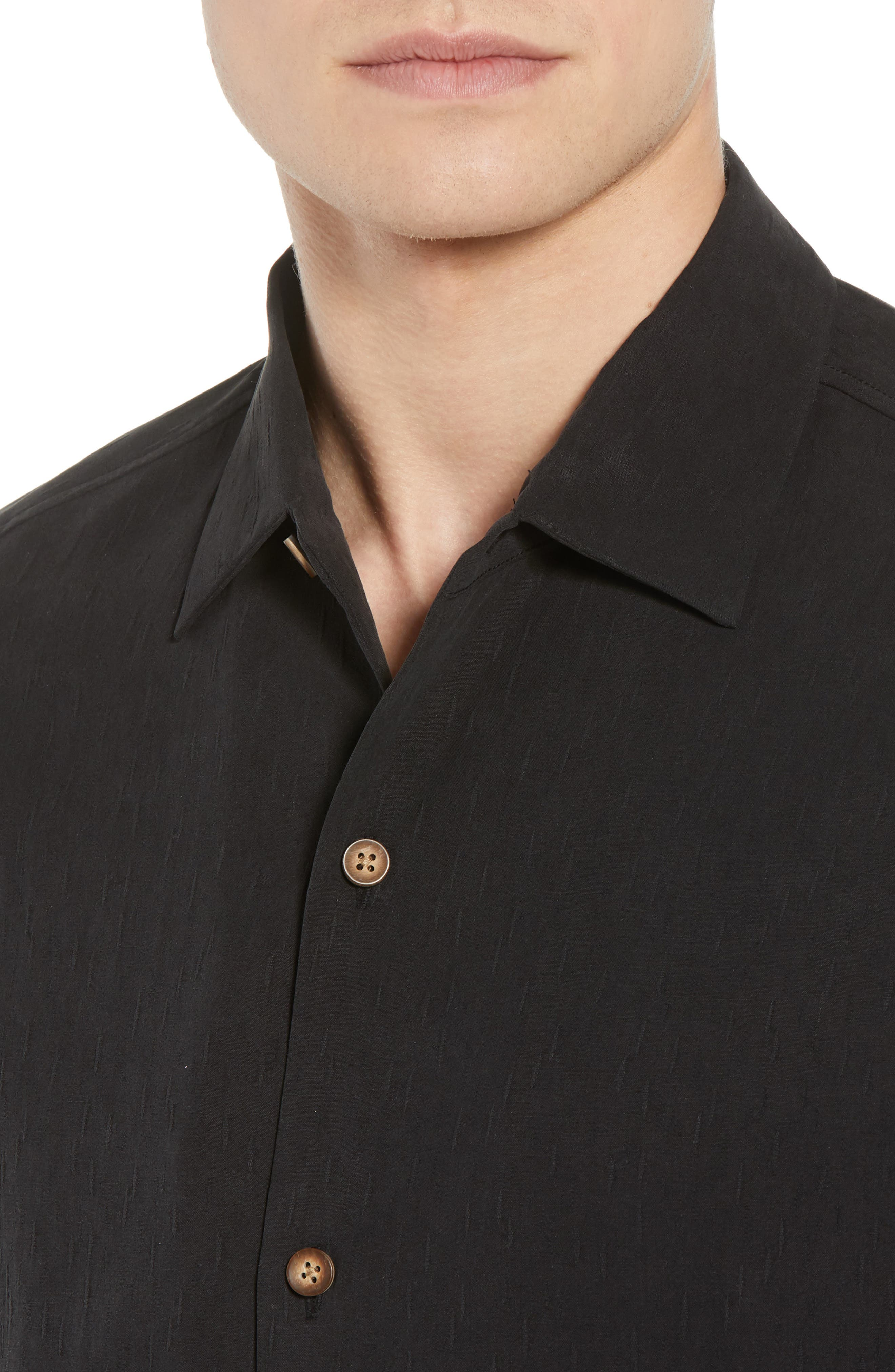 Bahama Reserve Silk Camp Shirt,                             Alternate thumbnail 2, color,                             Black