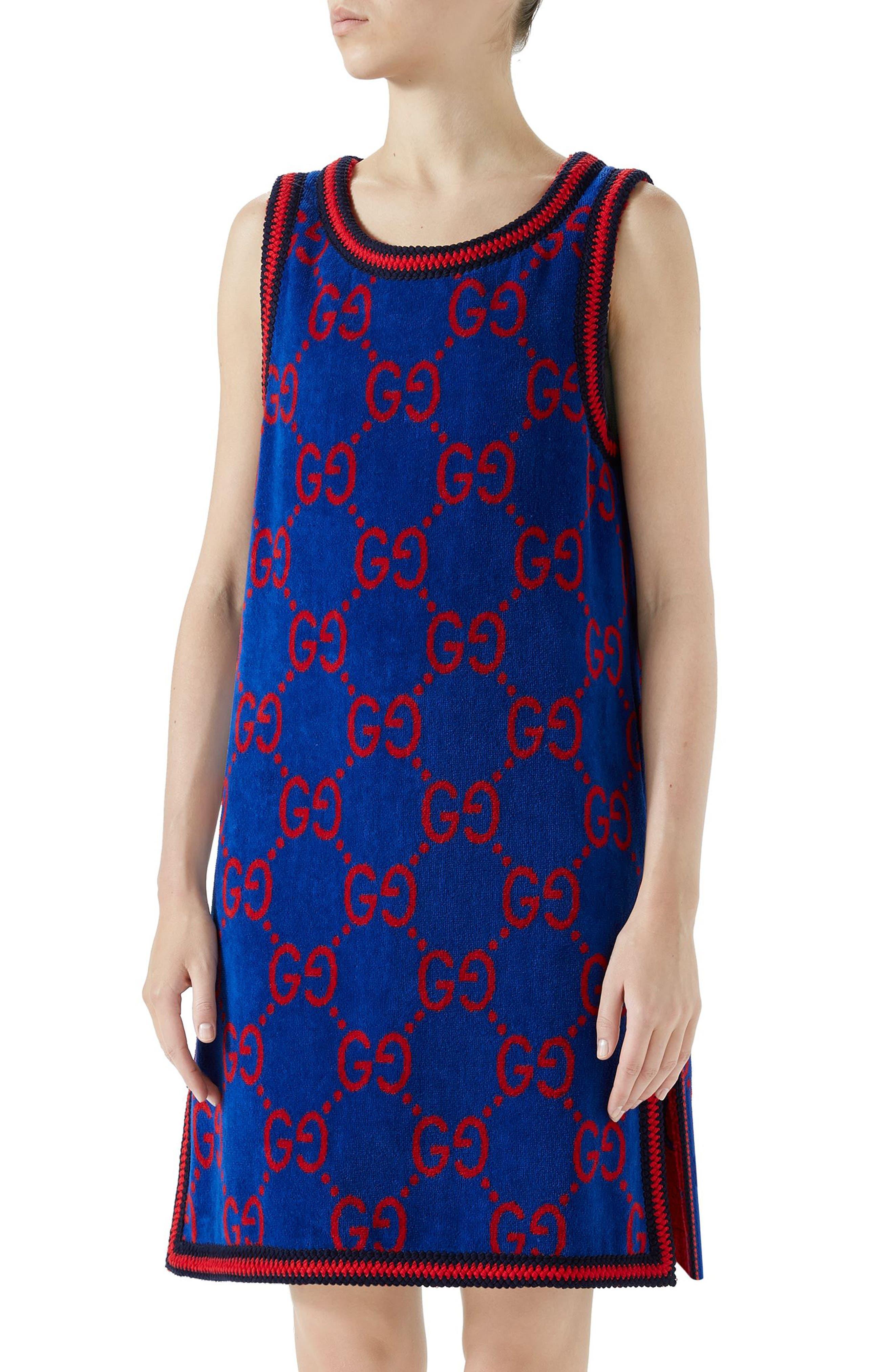 GG Cotton Jacquard Shift Dress,                         Main,                         color, Multi
