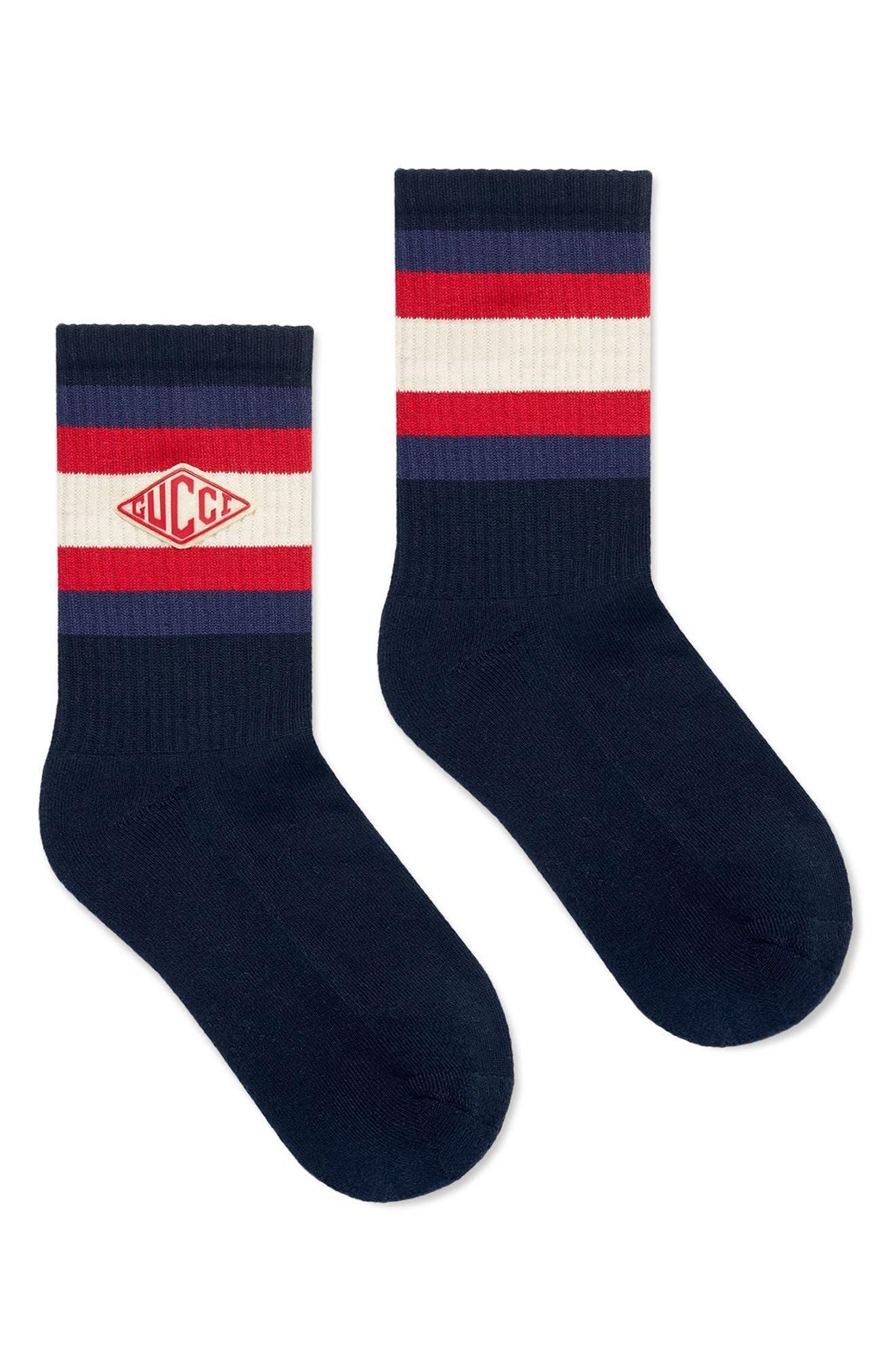 New Logo Socks,                             Alternate thumbnail 2, color,                             Midnight Blue