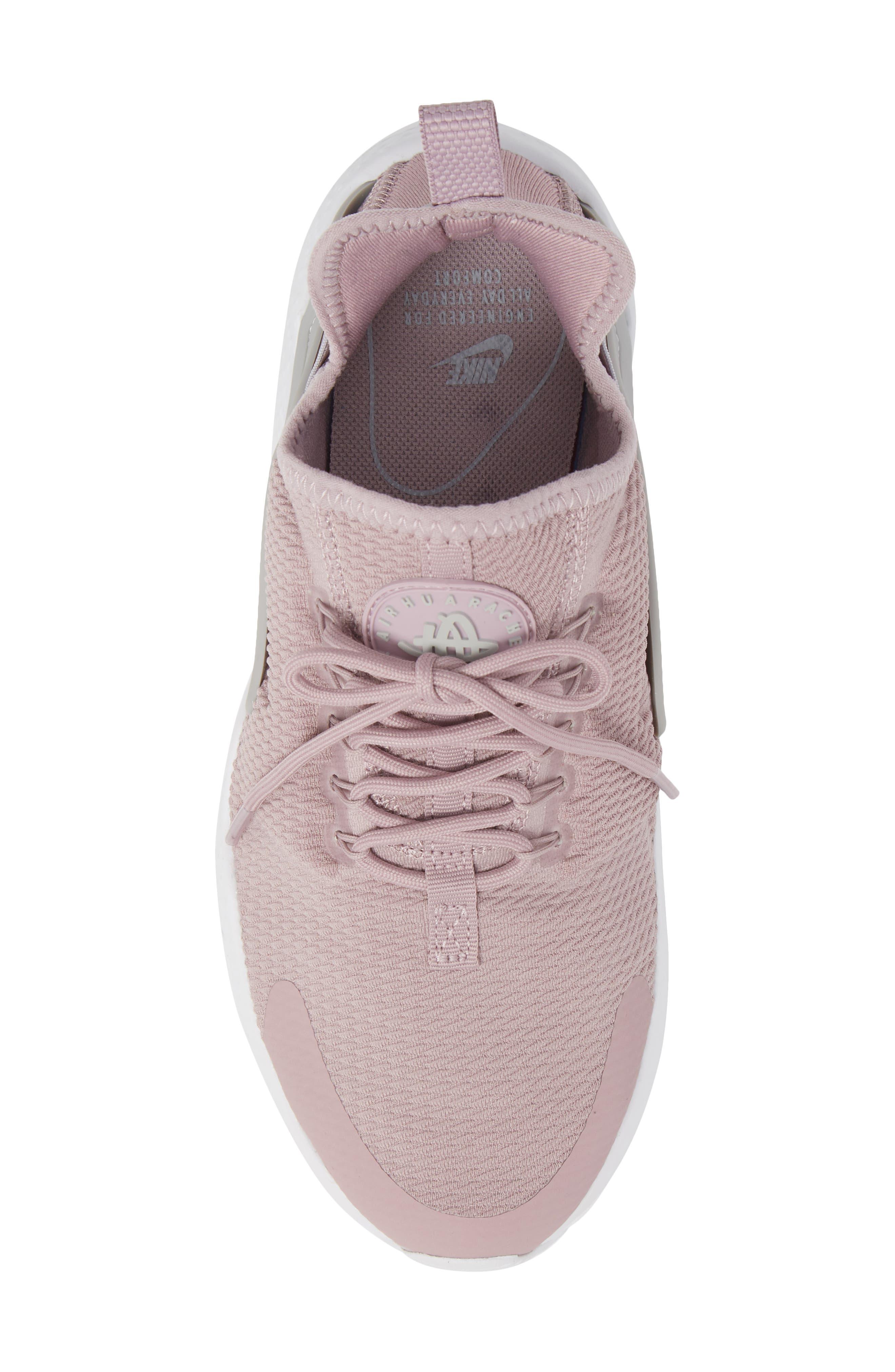 Air Huarache Sneaker,                             Alternate thumbnail 5, color,                             Elemental Rose/ Wolf Grey