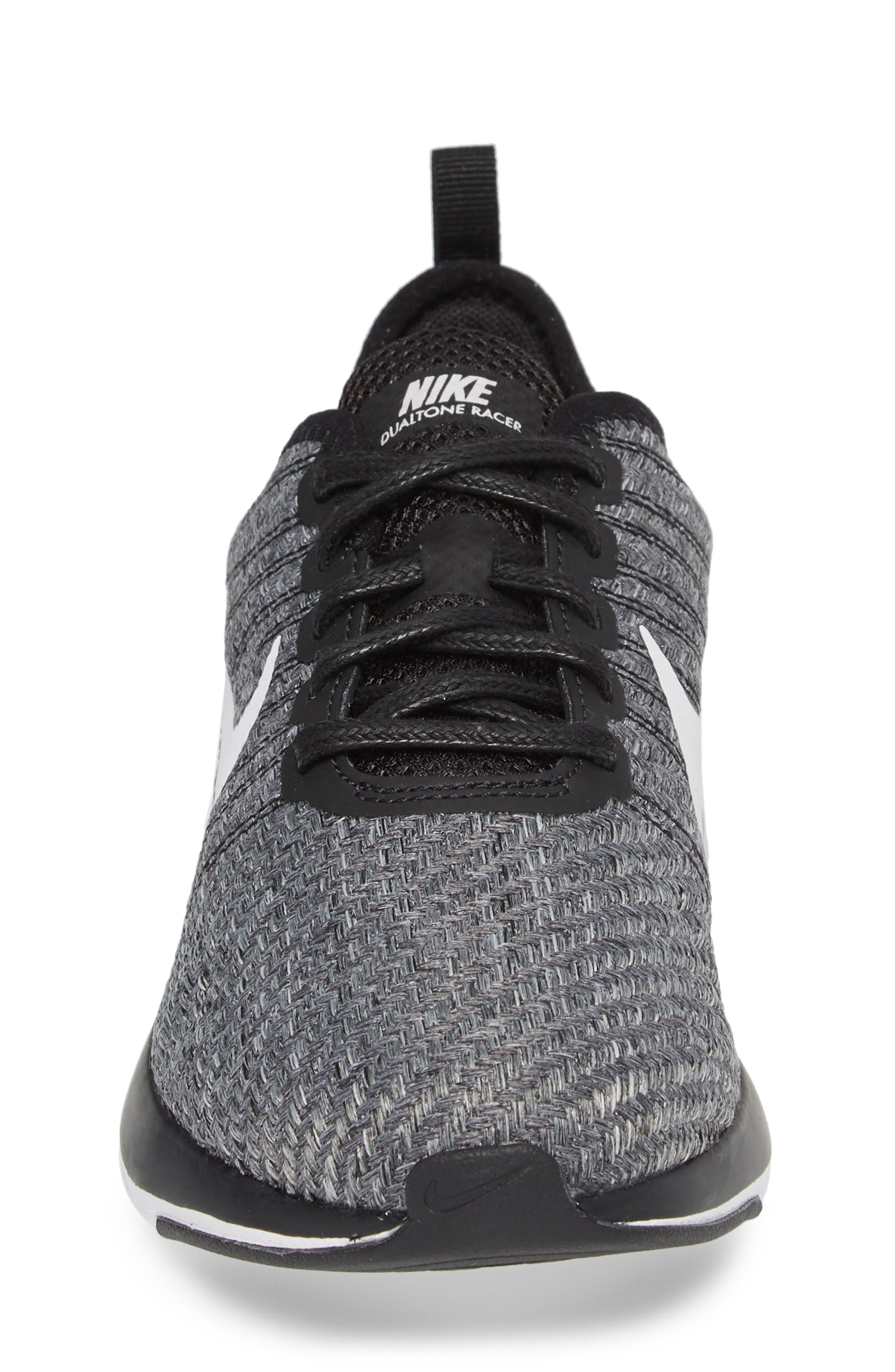 Dualtone Racer SE Sneaker,                             Alternate thumbnail 4, color,                             Black/ Vast Grey/ White