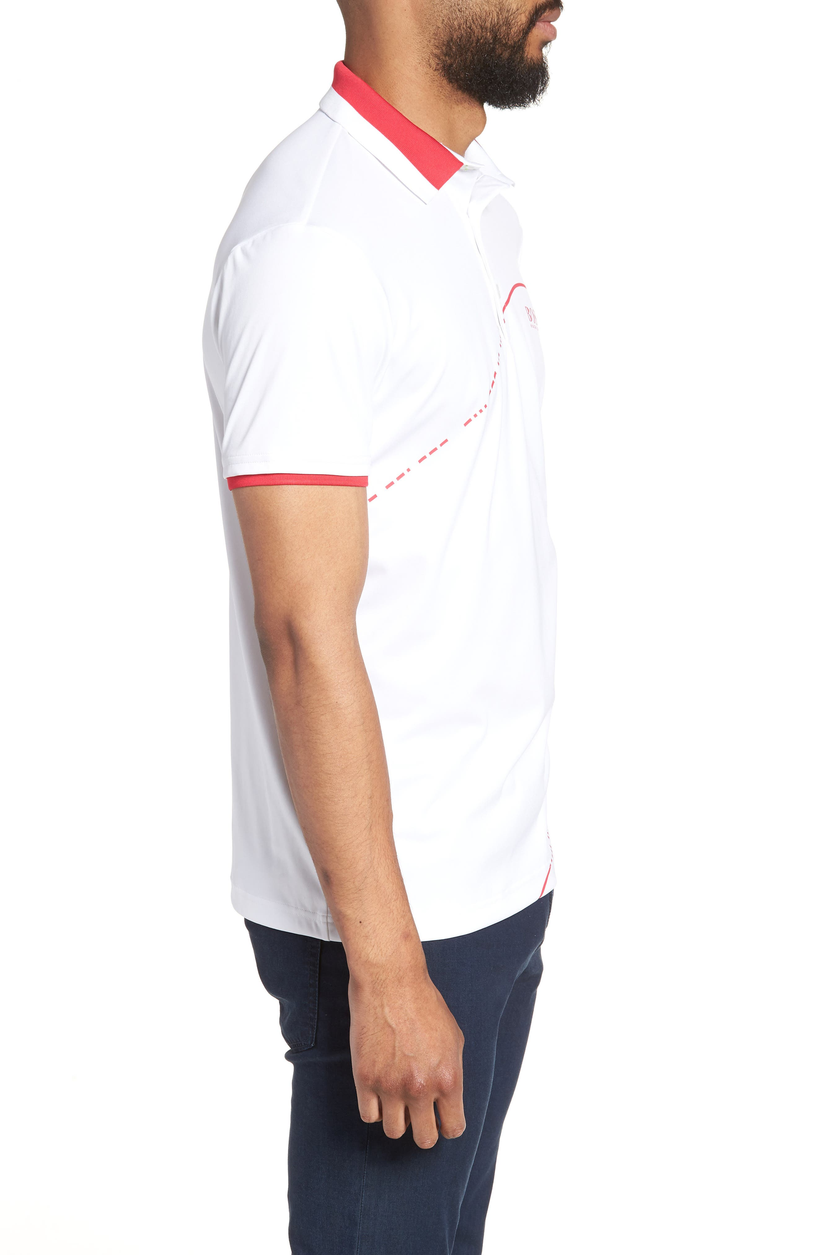 Paddy Pro 2 Regular Fit Polo,                             Alternate thumbnail 3, color,                             White