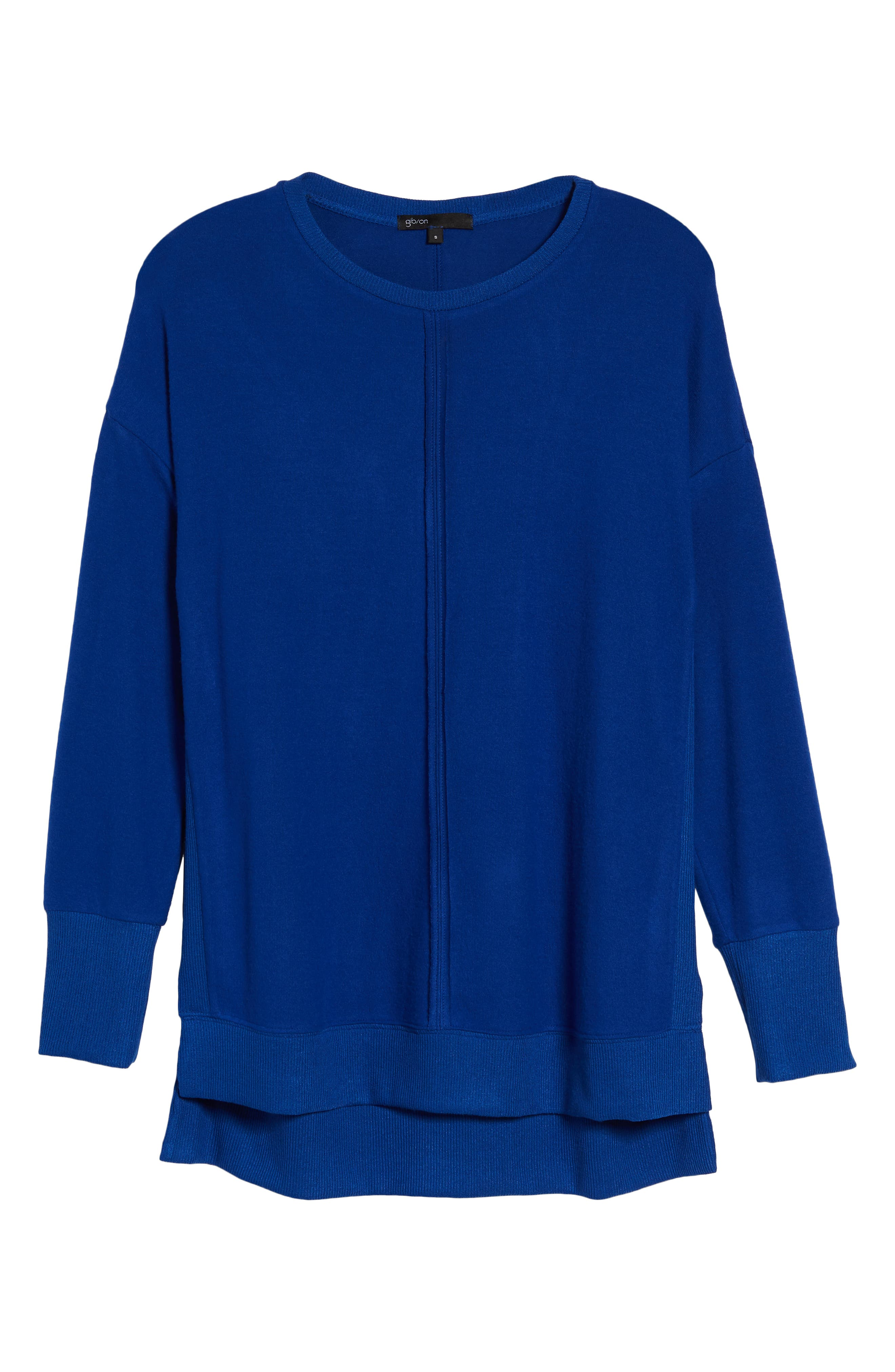 Cozy Fleece Tunic,                             Alternate thumbnail 6, color,                             Blue Surf