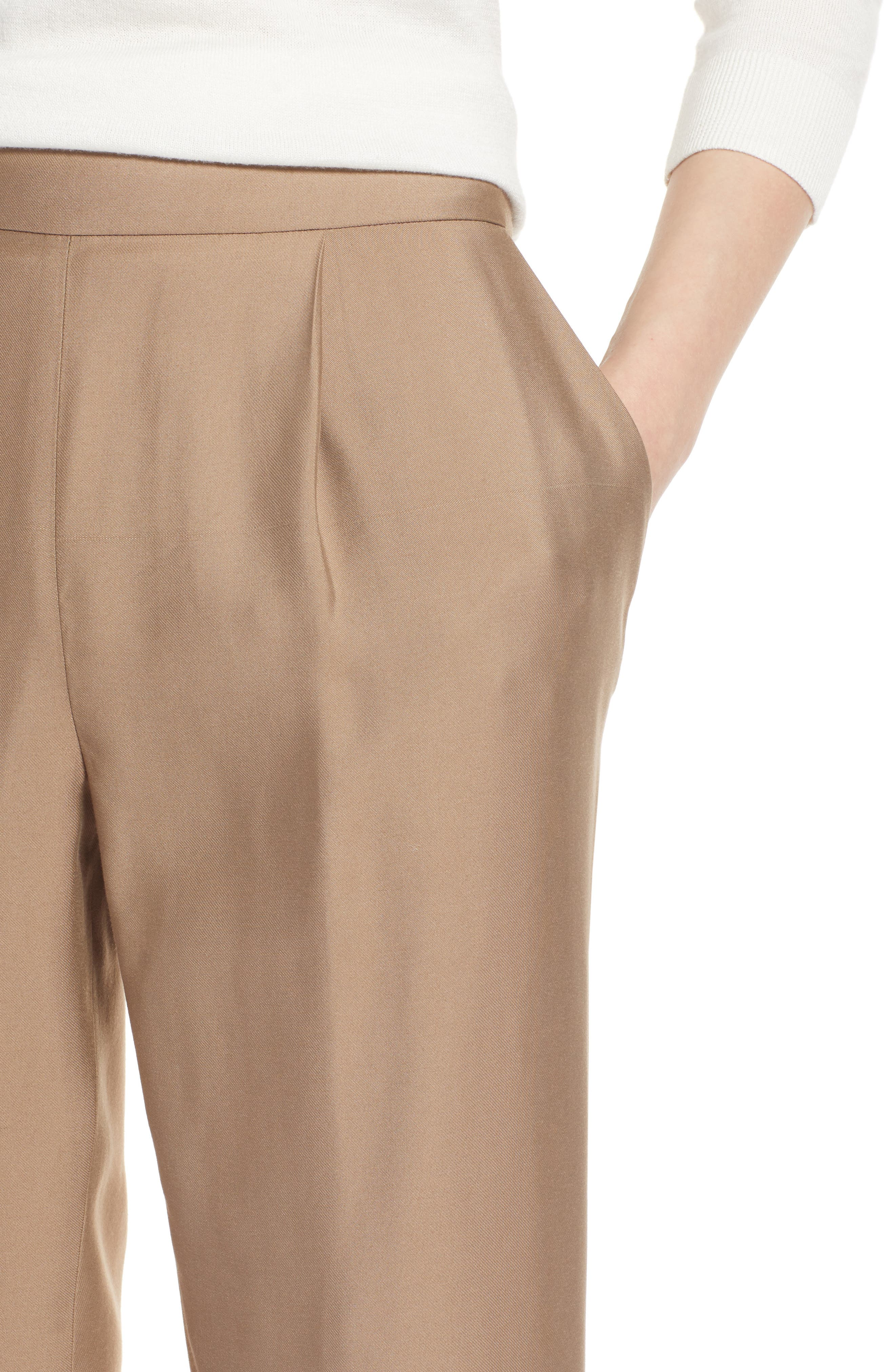 Pull-On Ankle Pants,                             Alternate thumbnail 4, color,                             Tan Greige