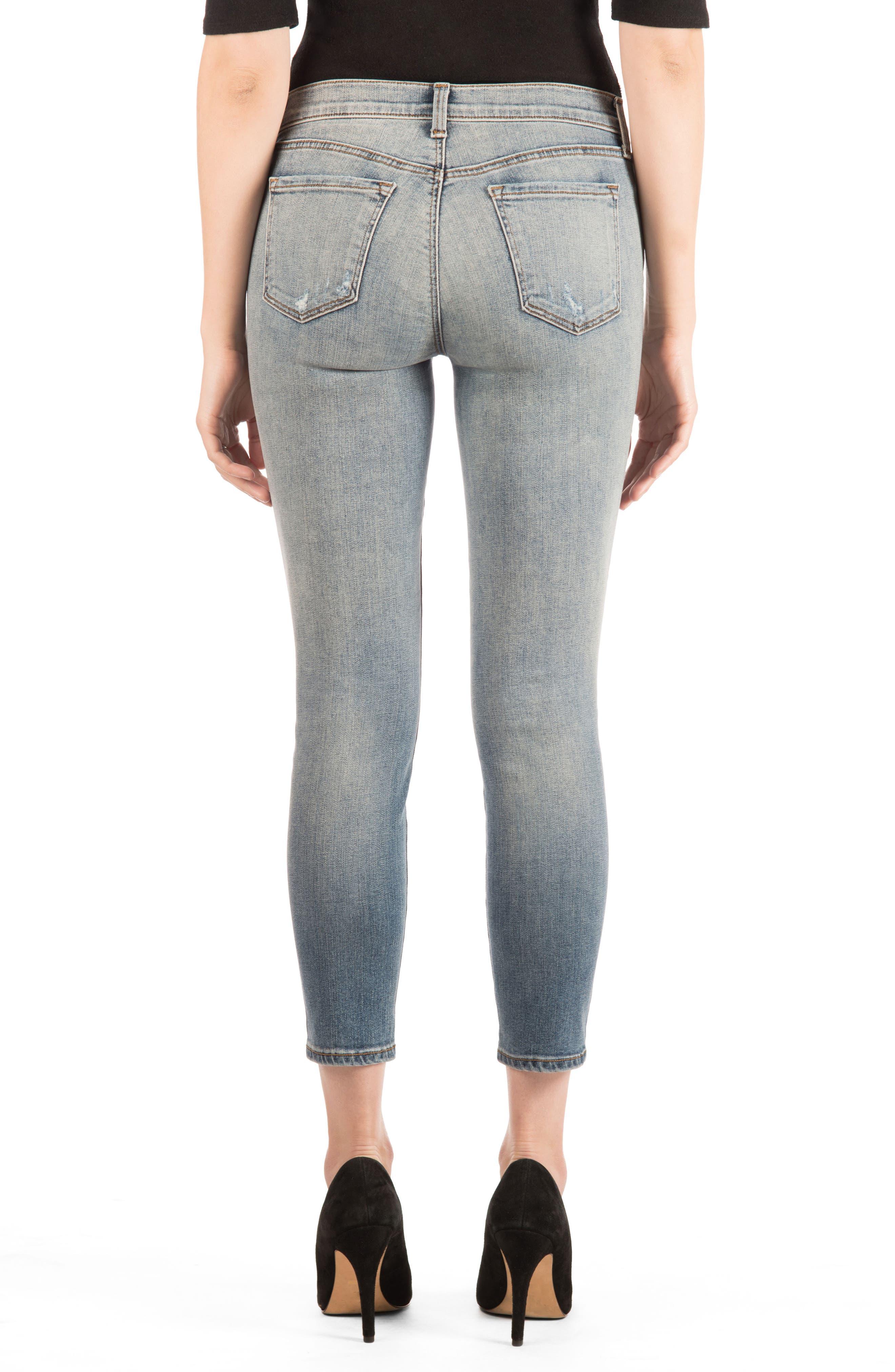 835 Distressed Capri Skinny Jeans,                             Alternate thumbnail 2, color,                             Nolita