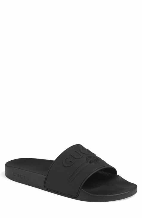2b7e5e611376 Gucci Pursuit Logo Slide Sandal (Men)