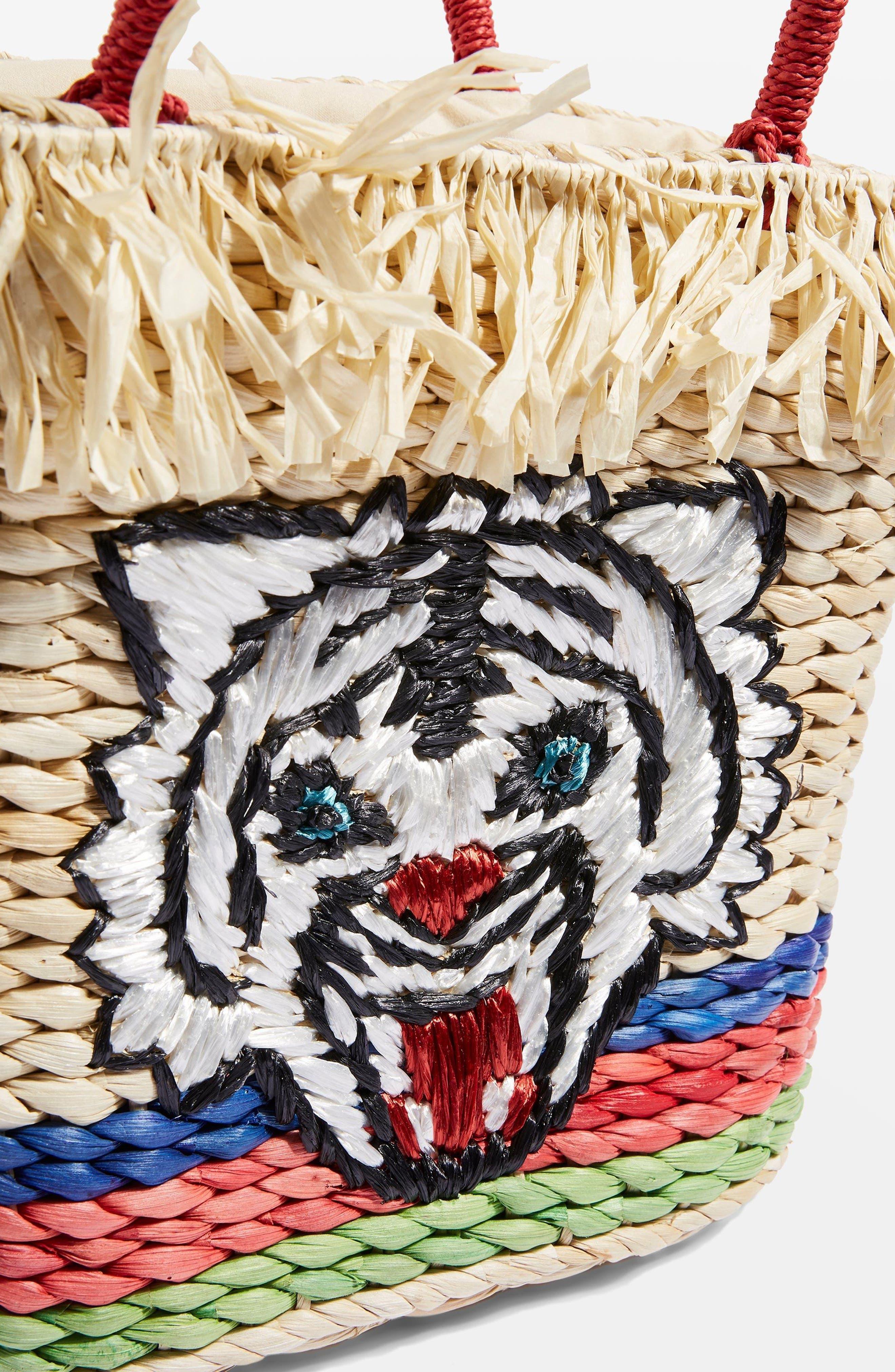 Briger Tiger Tote Bag,                             Alternate thumbnail 4, color,                             Nude Multi