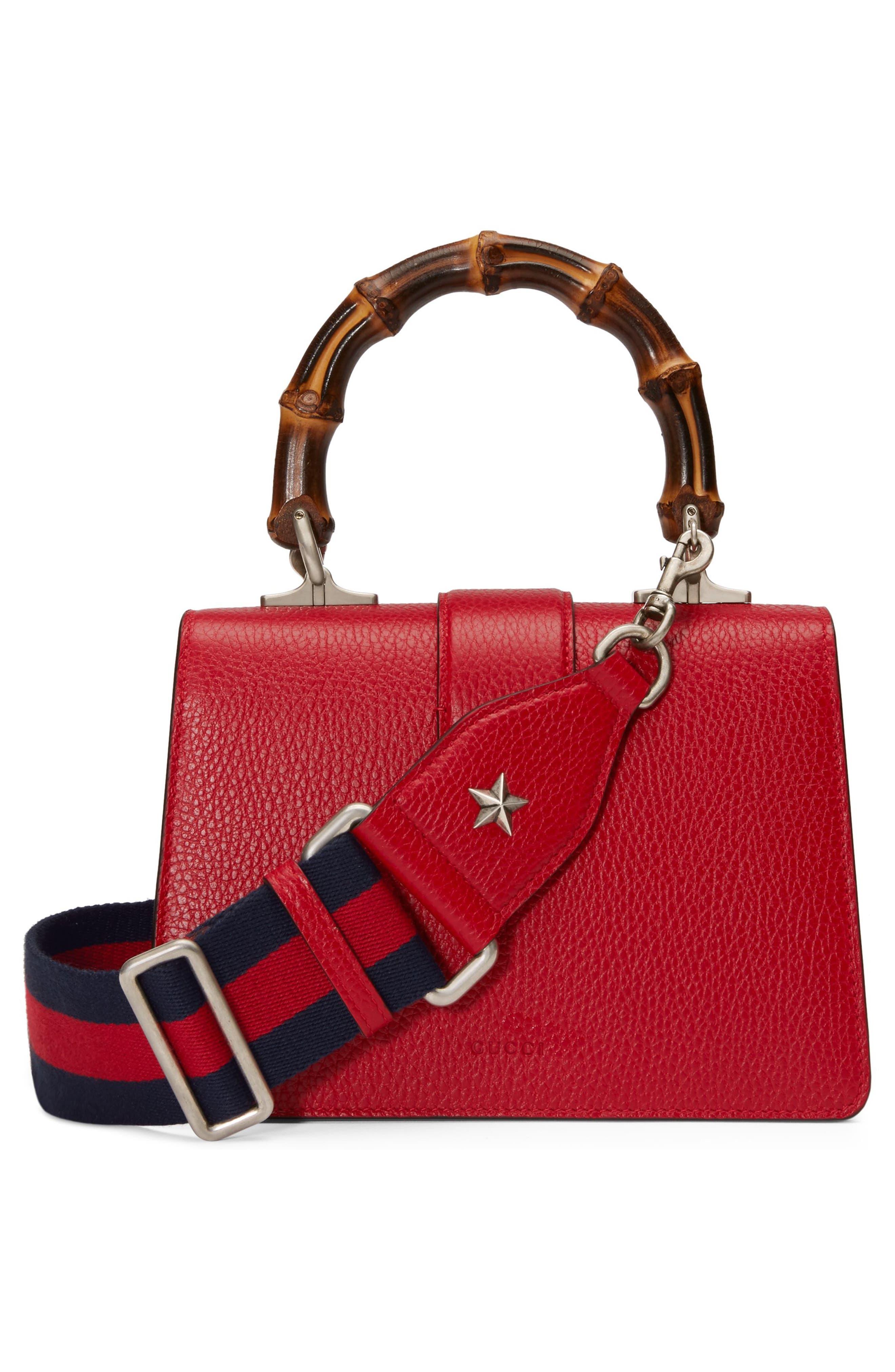 Mini Dionysus Leather Top Handle Satchel,                             Alternate thumbnail 2, color,                             Red/ Blue/ Black Diamond