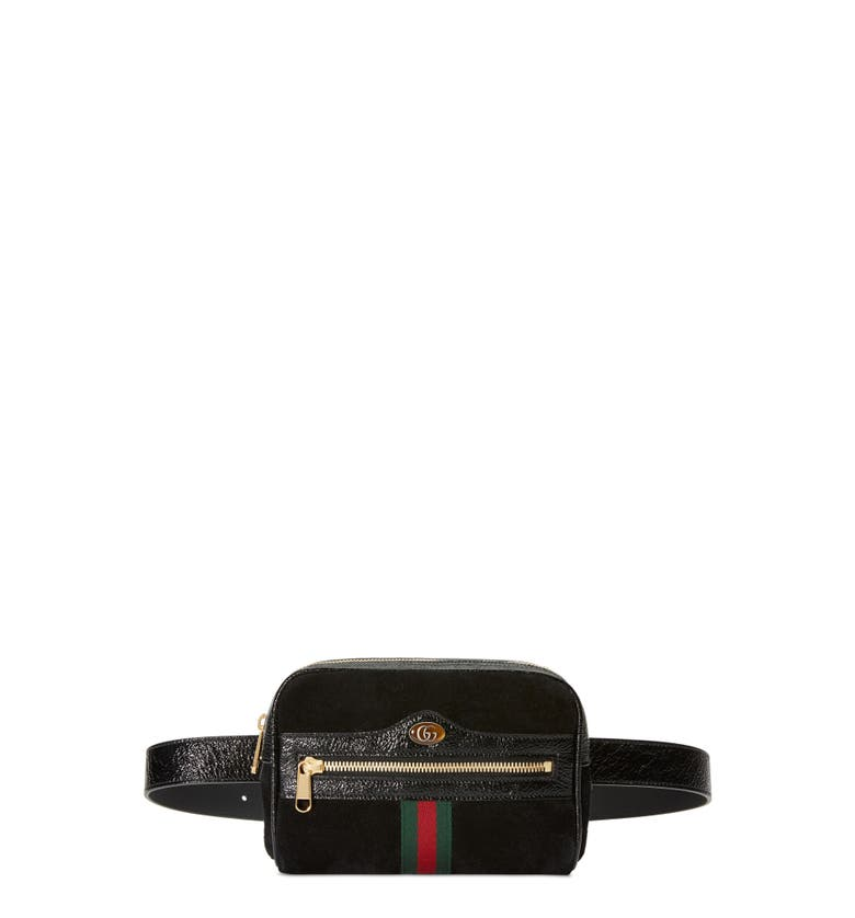 11c83aab0ae5 Gucci Ophidia Small Suede Belt Bag In 1060 Black | ModeSens