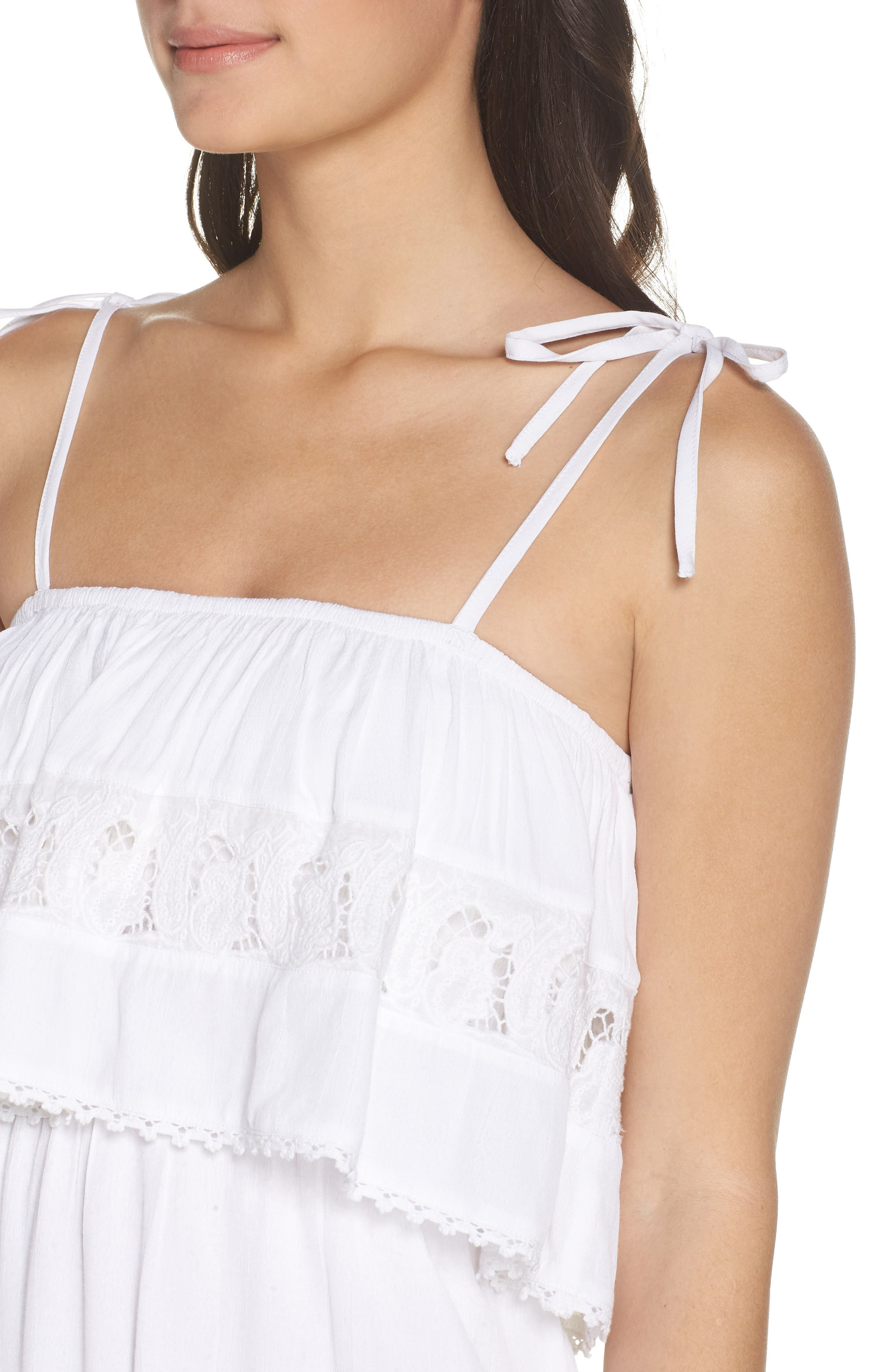 Jaclyn Cover-Up Dress,                             Alternate thumbnail 4, color,                             White