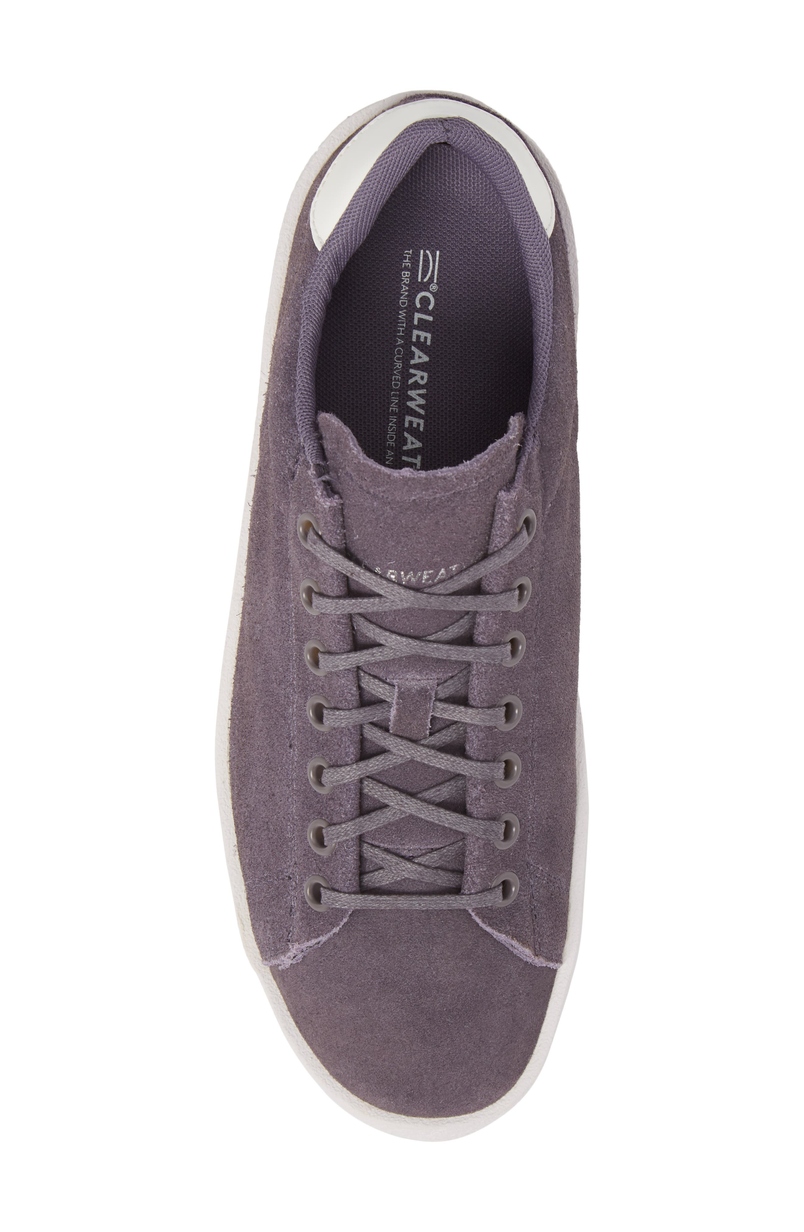 Jones Platform Sneaker,                             Alternate thumbnail 5, color,                             Purple Leather