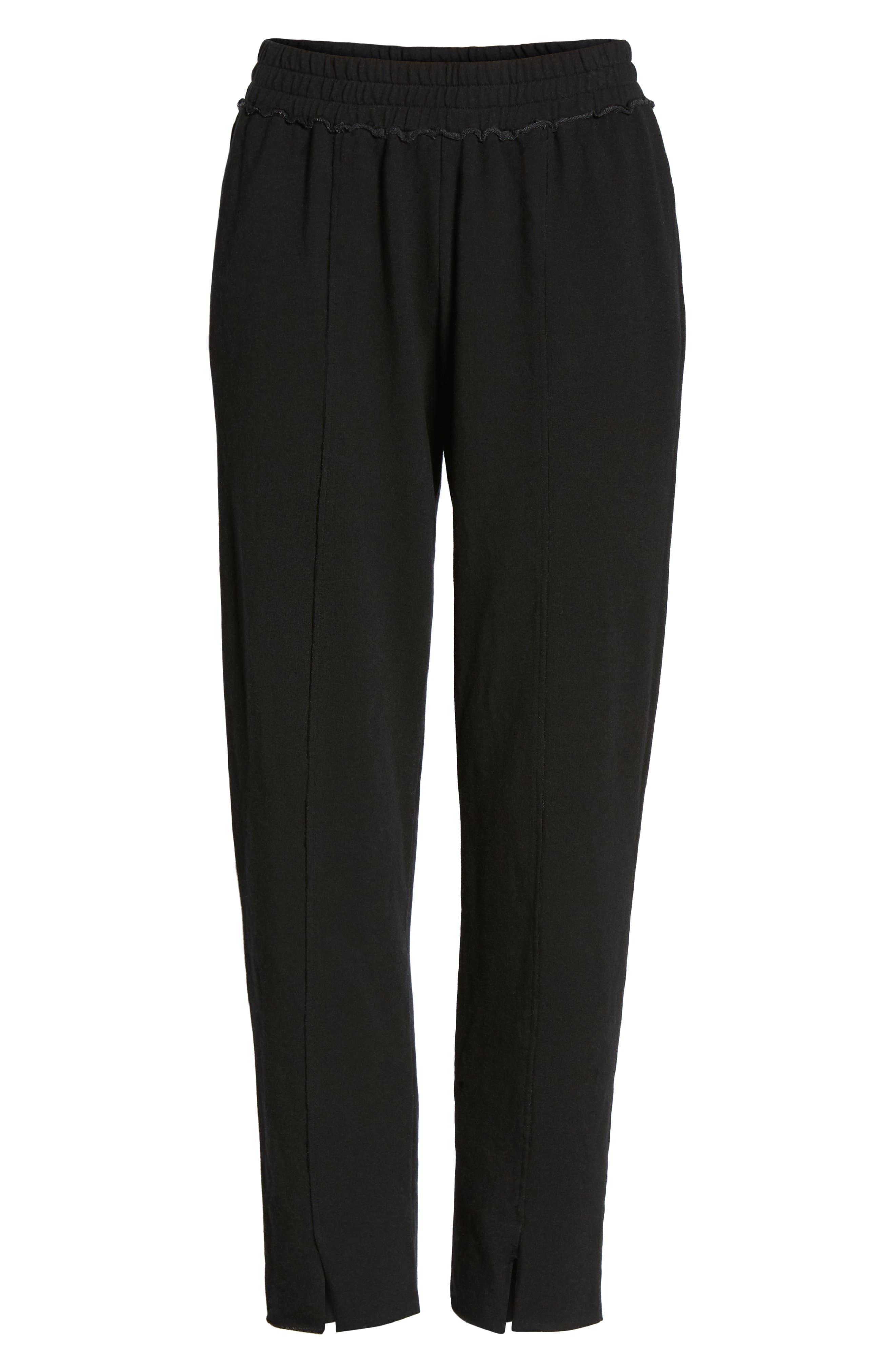 Lowsen Split Hem Sweatpants,                             Alternate thumbnail 7, color,                             Black