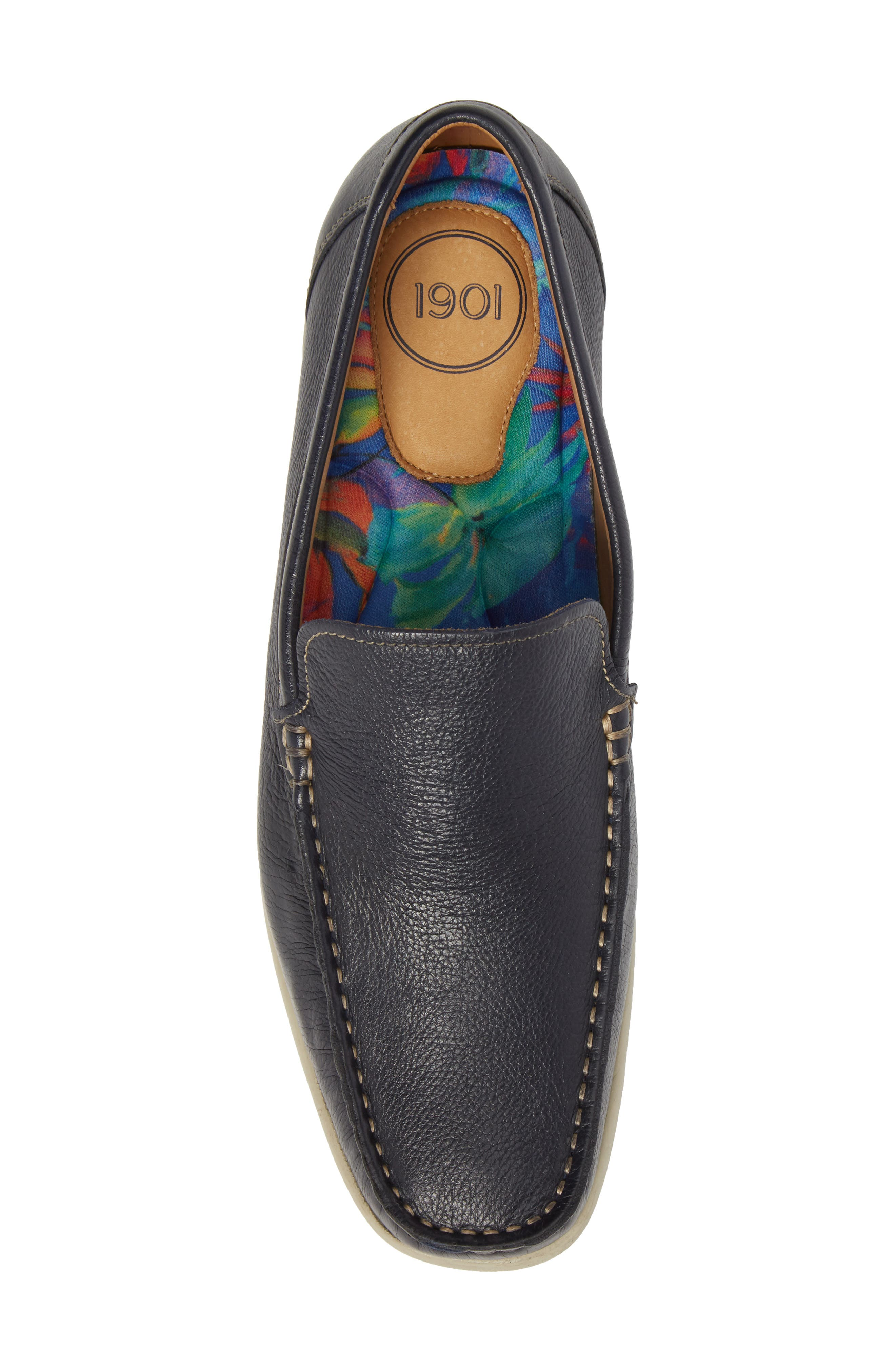 Calistoga Loafer,                             Alternate thumbnail 5, color,                             Navy Leather
