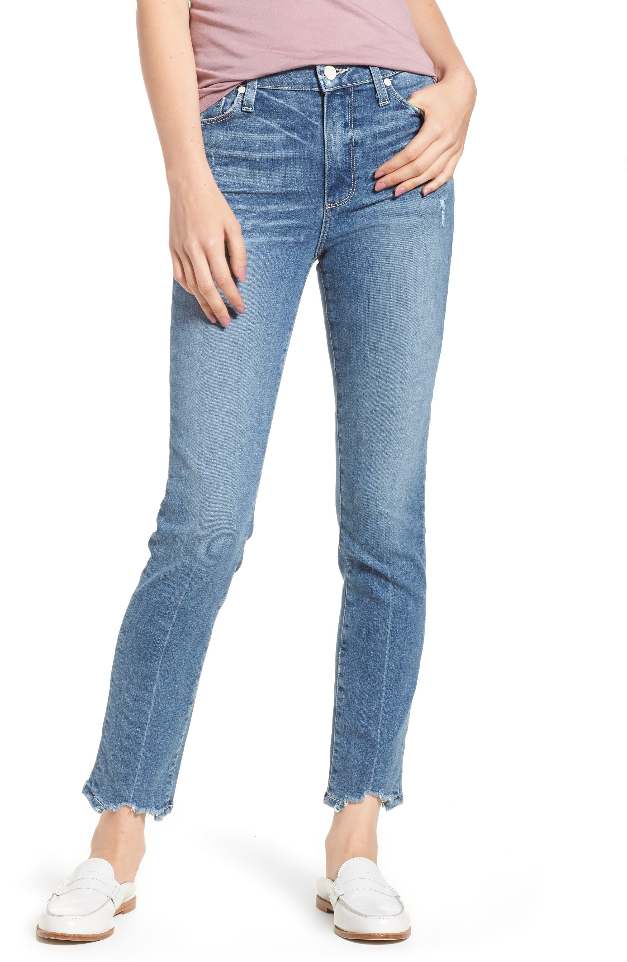 Transcend Vintage - Hoxton High Waist Ankle Skinny Jeans,                         Main,                         color, Zahara