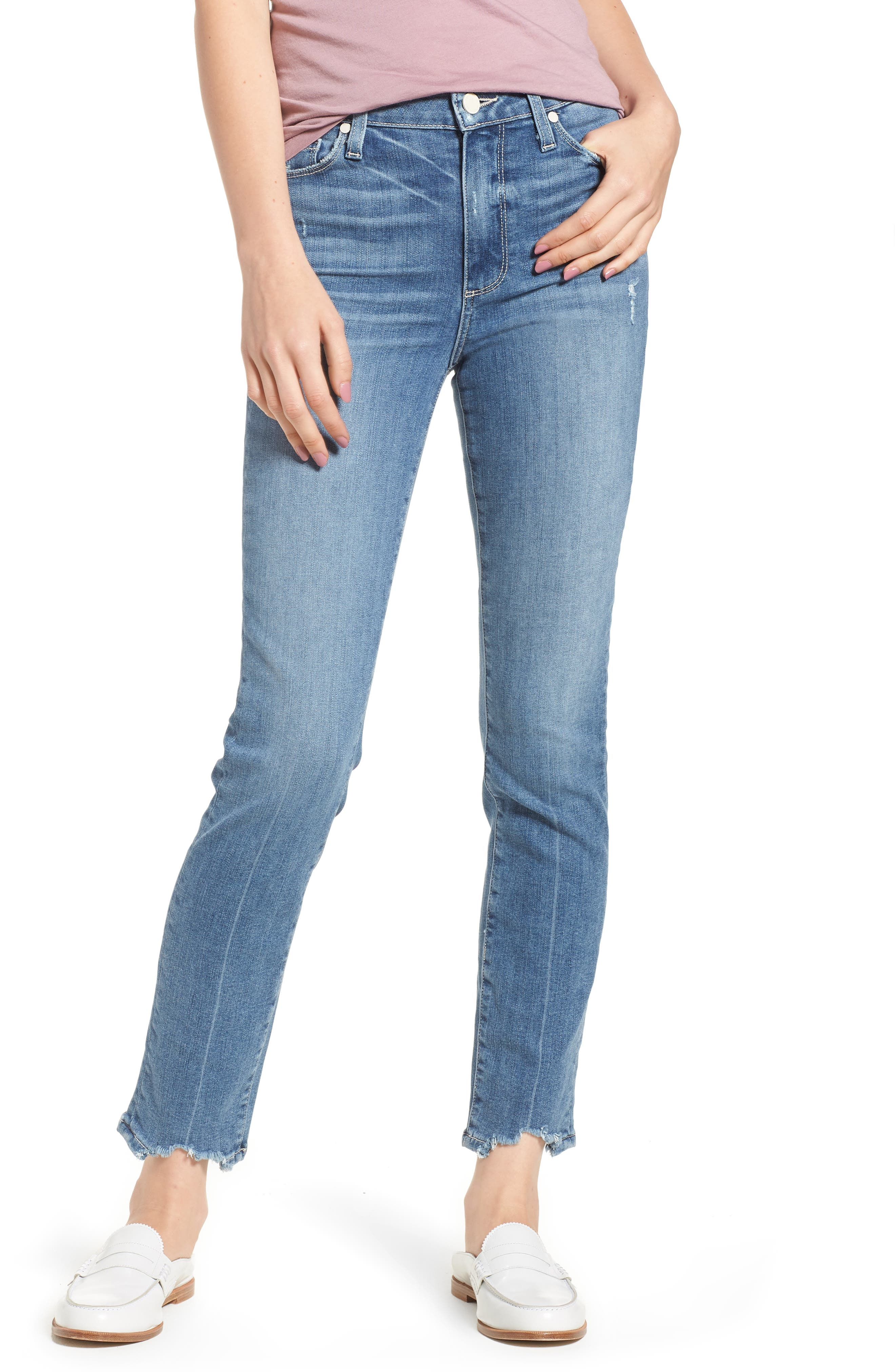 Transcend Vintage - Hoxton High Waist Ankle Skinny Jeans,                         Main,                         color, Zahara