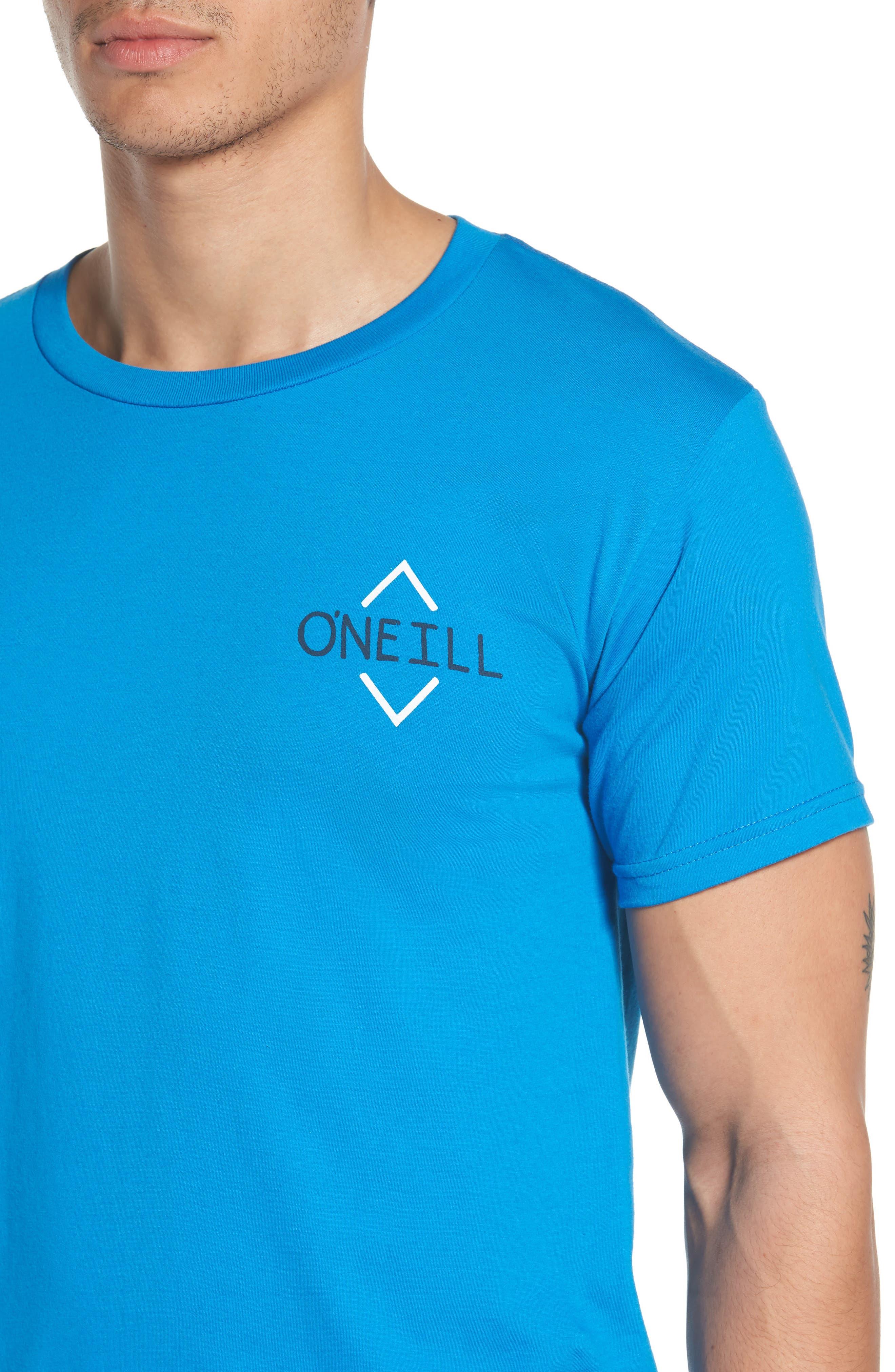 Fisher Graphic T-Shirt,                             Alternate thumbnail 4, color,                             Brilliant Blue