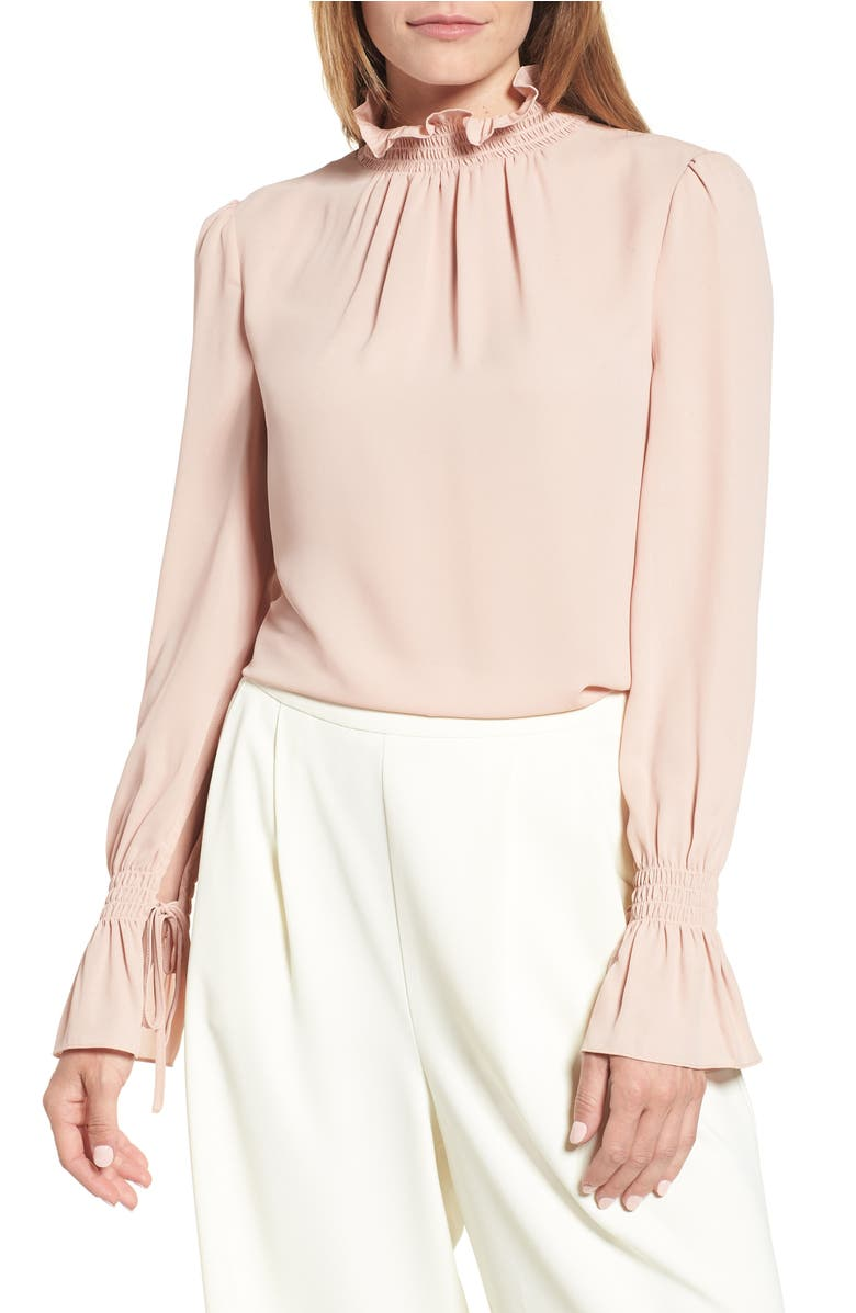 Vince Camuto Smocked Neck Blouse (Regular & Petite) | Nordstrom