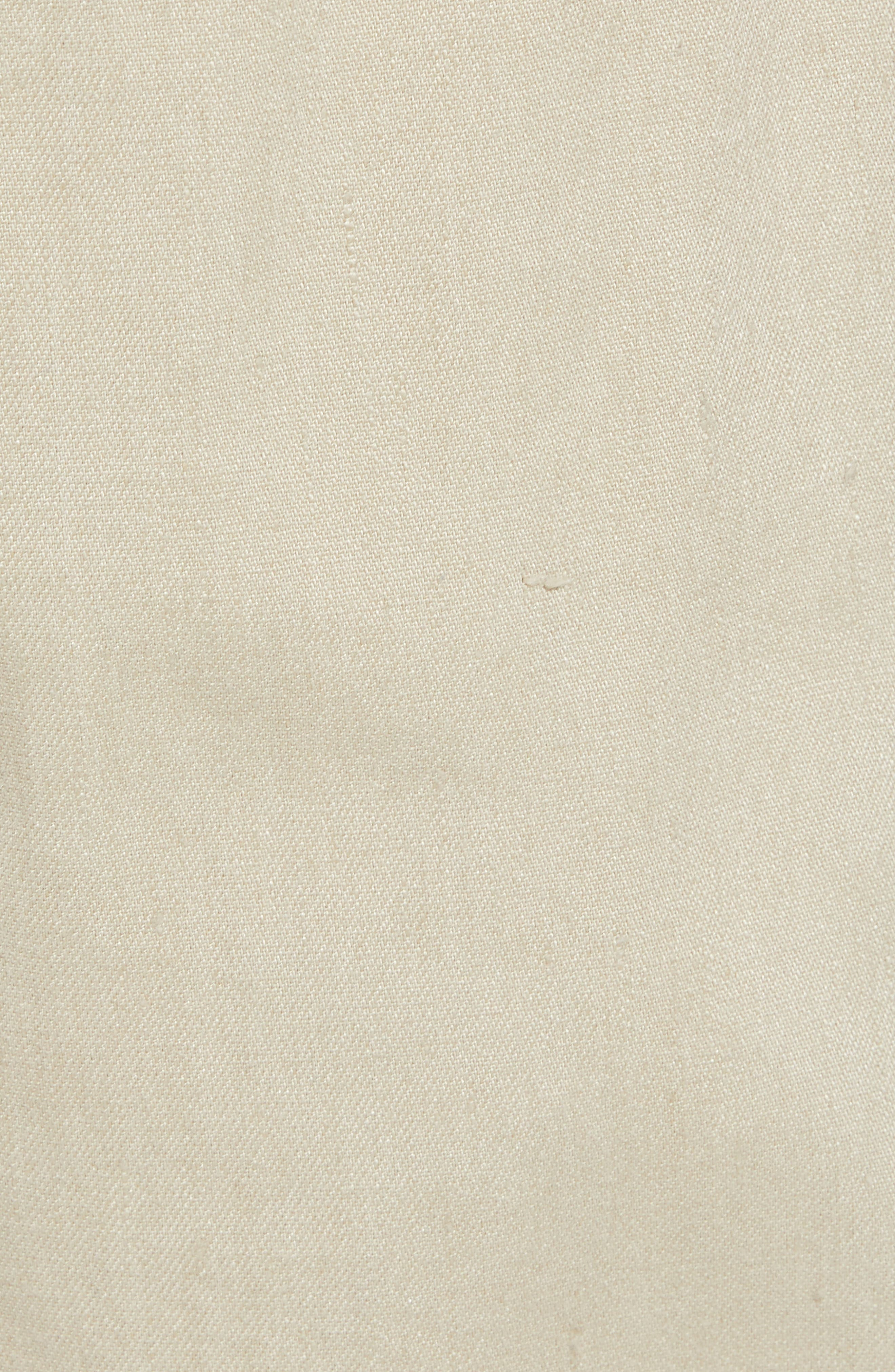 Stretch Linen & Cotton Cargo Shorts,                             Alternate thumbnail 5, color,                             Flax