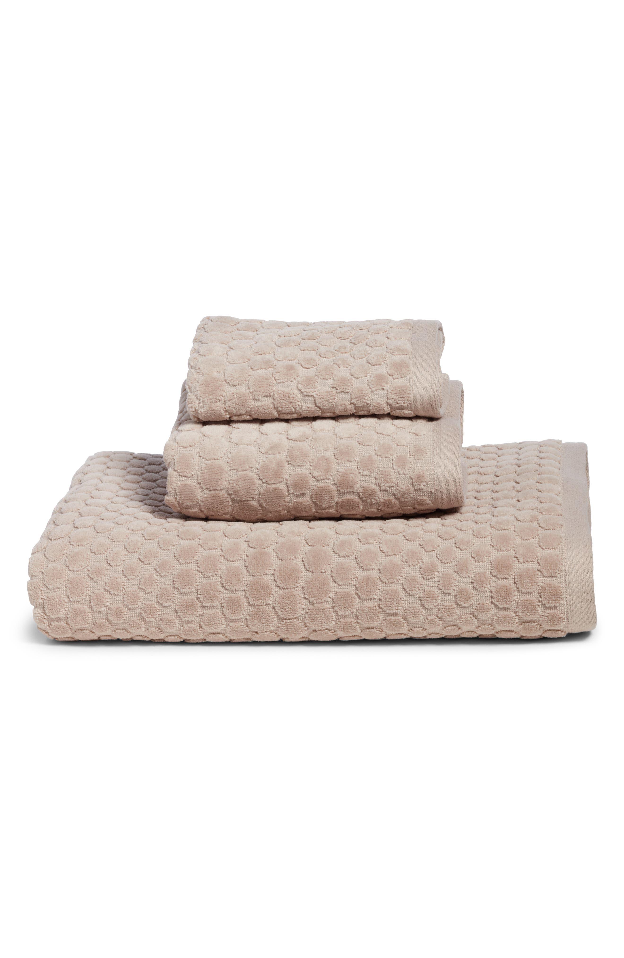 Lorenza Hand Towel,                             Alternate thumbnail 3, color,                             Grey Sphere