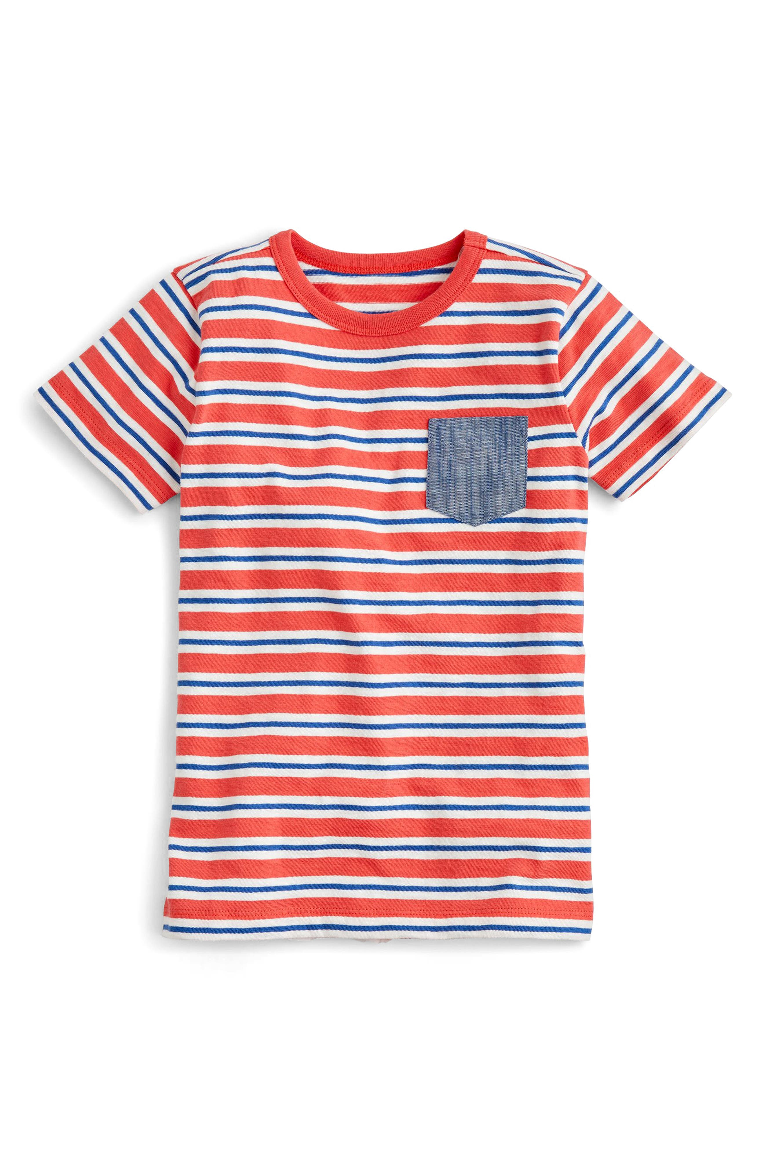 Stripe Chambray Pocket T-Shirt,                             Main thumbnail 1, color,                             Bohemian Multi