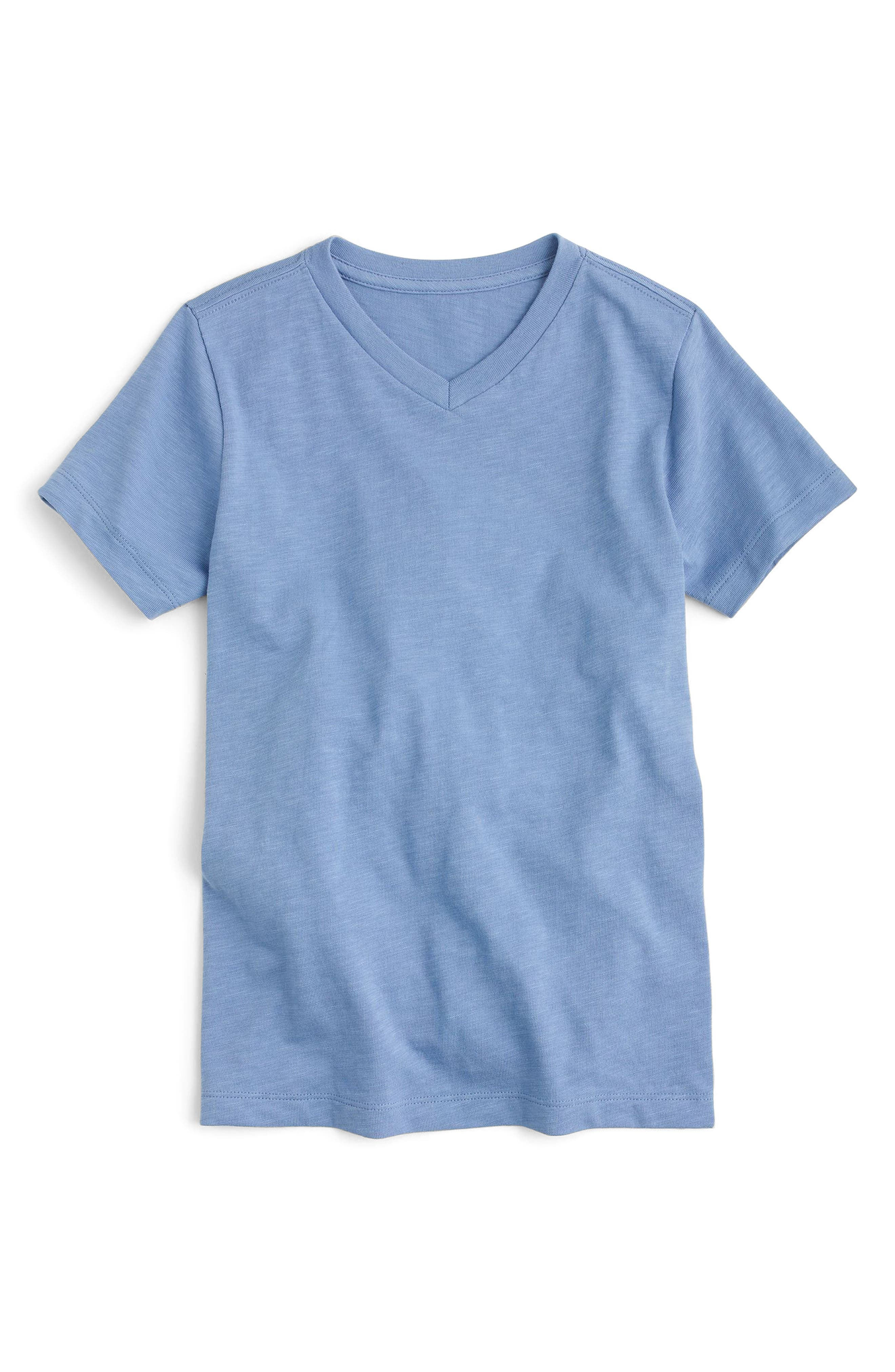 V-Neck T-Shirt,                         Main,                         color, Retro Blue