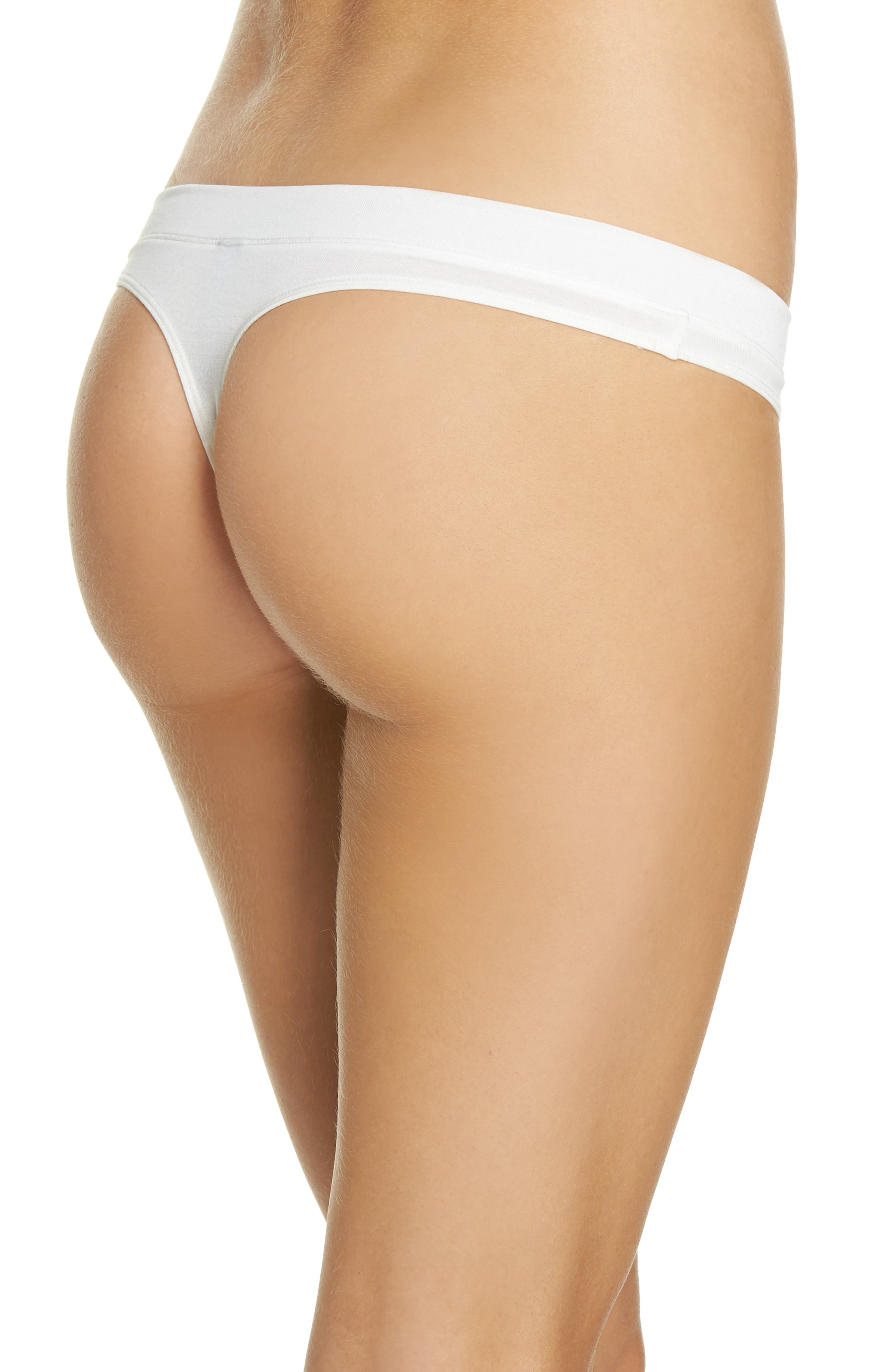 Thong,                             Alternate thumbnail 2, color,                             Ivory