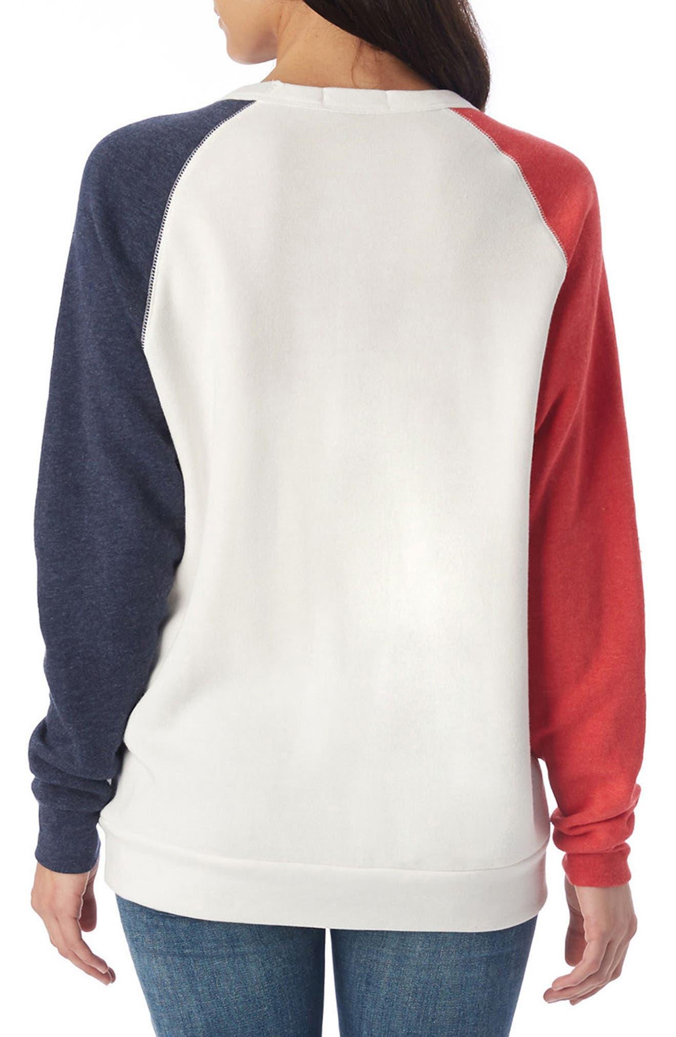USA Champ Sweatshirt,                             Alternate thumbnail 2, color,                             Ivory/ True Red/ True Navy