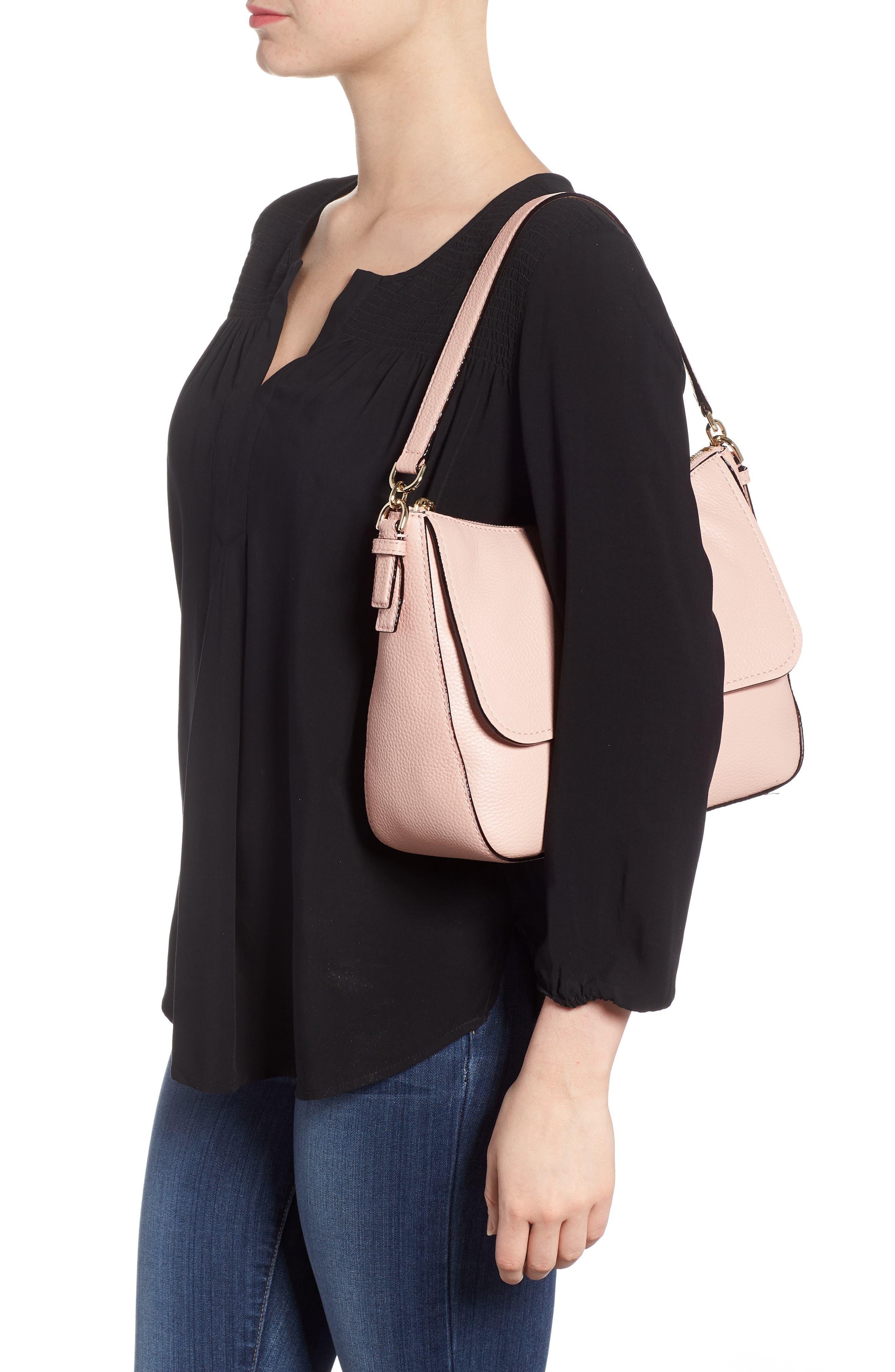 jackson street - colette leather satchel,                             Alternate thumbnail 2, color,                             Rosy Cheeks