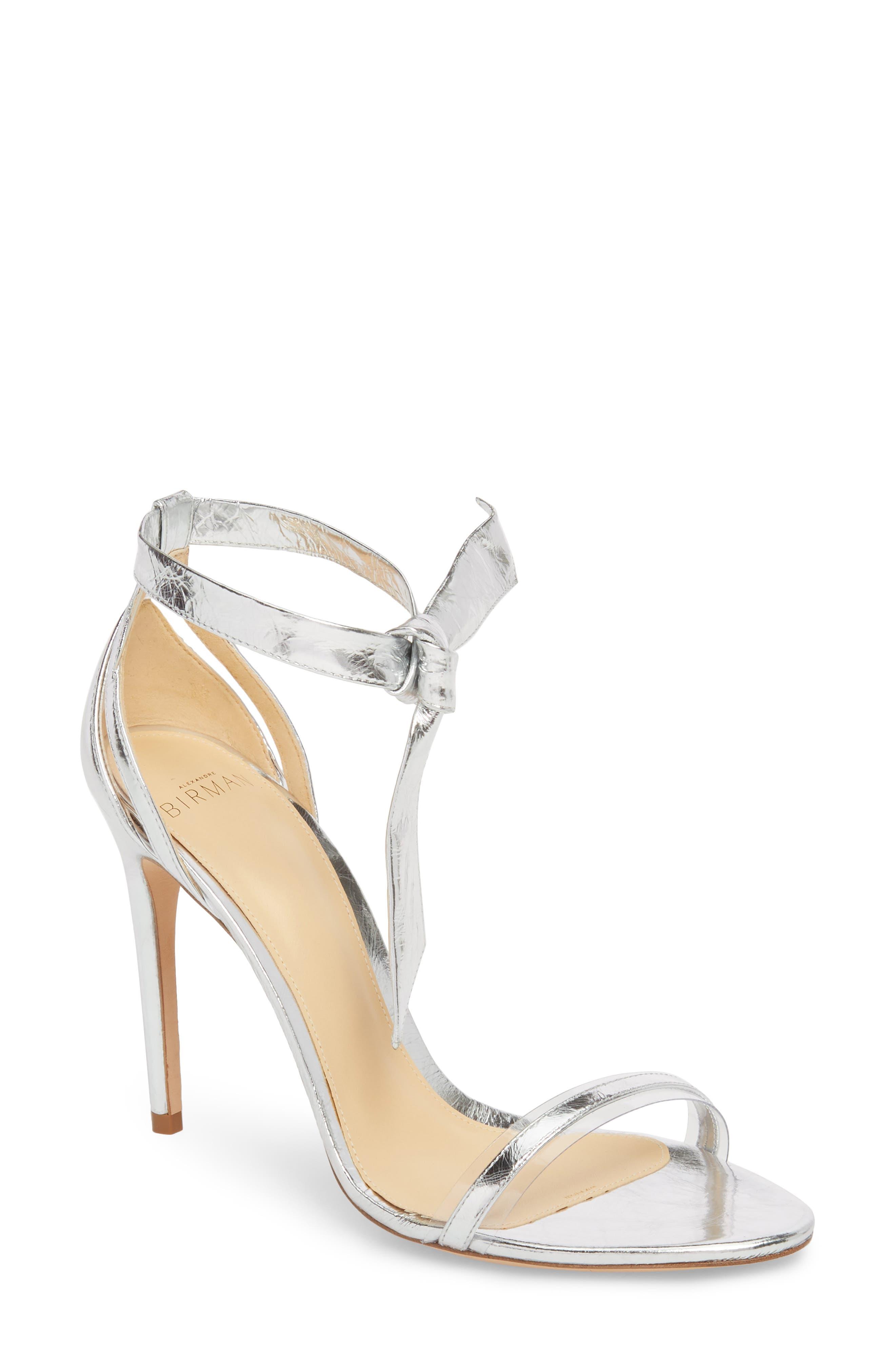 Clarita Sandal,                         Main,                         color, Silver/ Transparent
