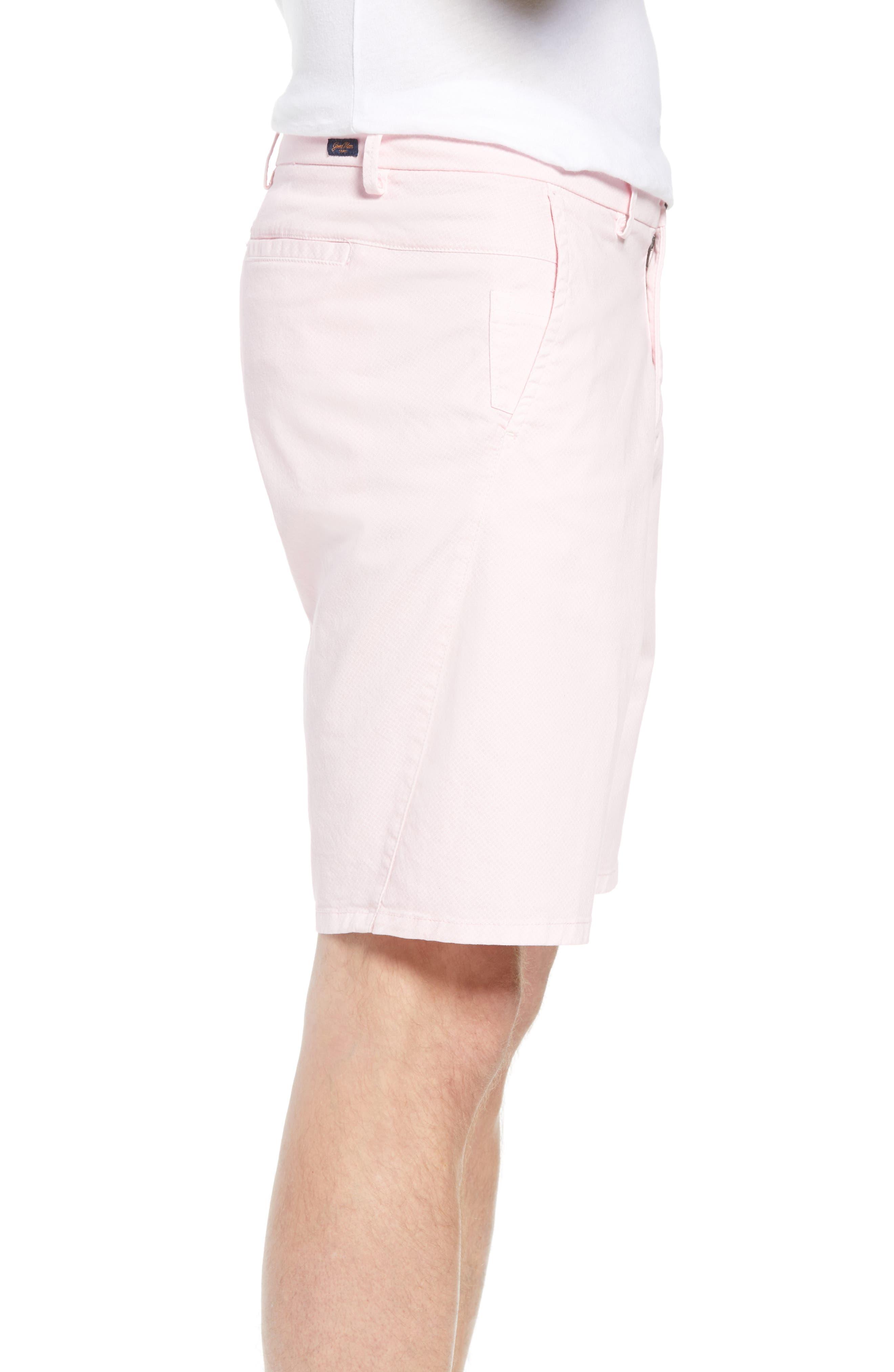 Monaco Diamond Dash Modern Fit Chino Shorts,                             Alternate thumbnail 3, color,                             Pink