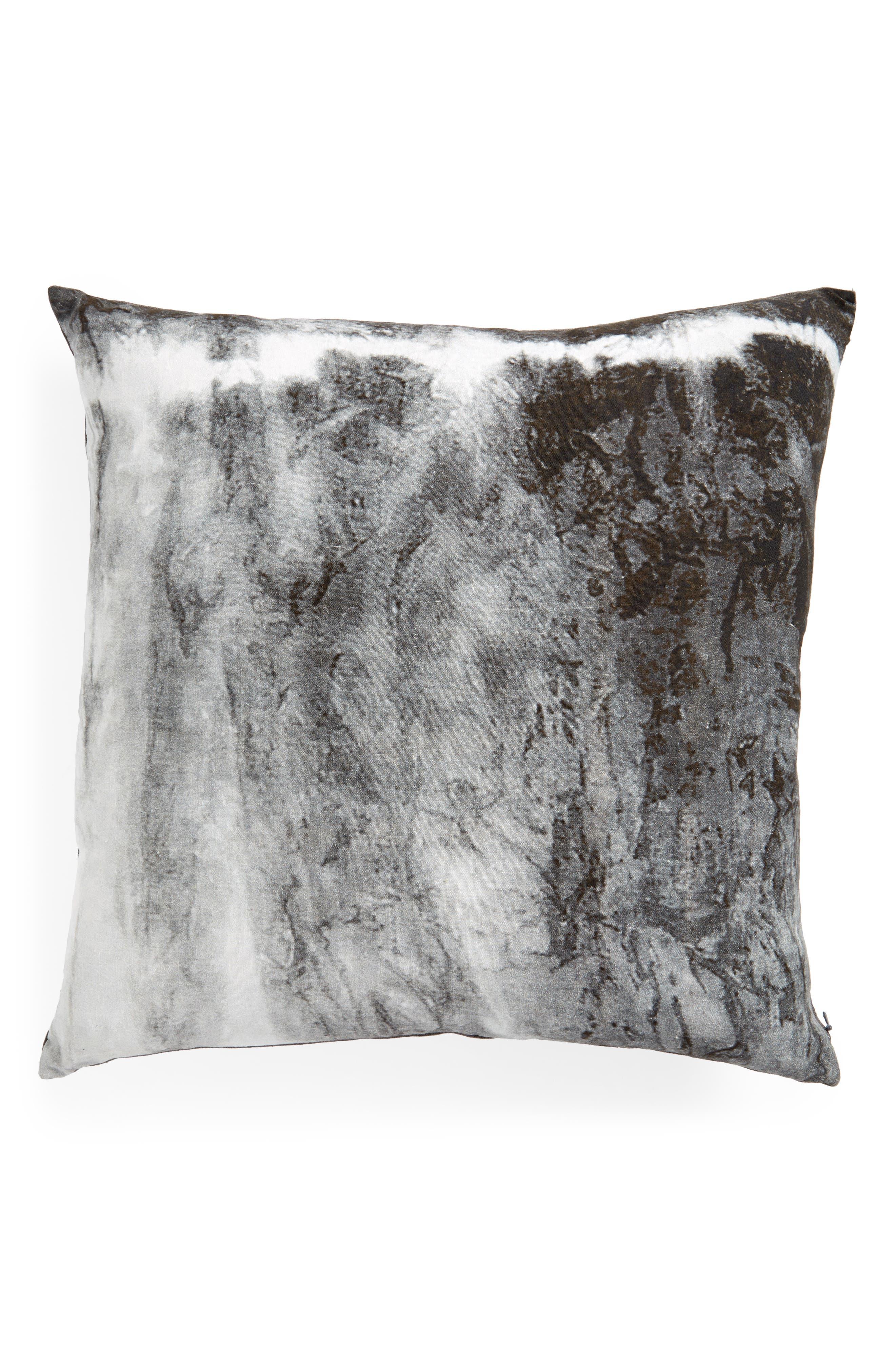 Color Wash Square Pillow,                             Main thumbnail 1, color,                             Grey  Castlerock