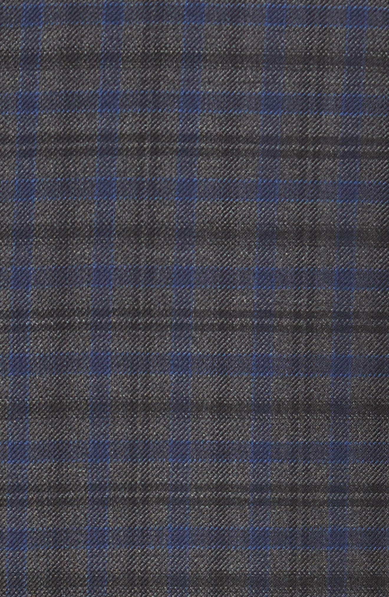 Classic Fit Windowpane Check Wool Sport Coat,                             Alternate thumbnail 5, color,                             Grey
