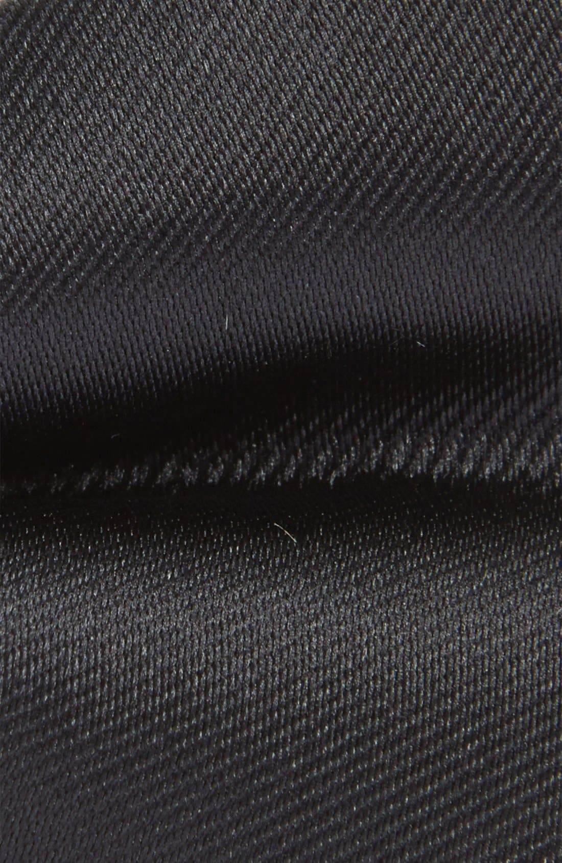 Solid Twill Bow Tie,                             Alternate thumbnail 2, color,                             Black