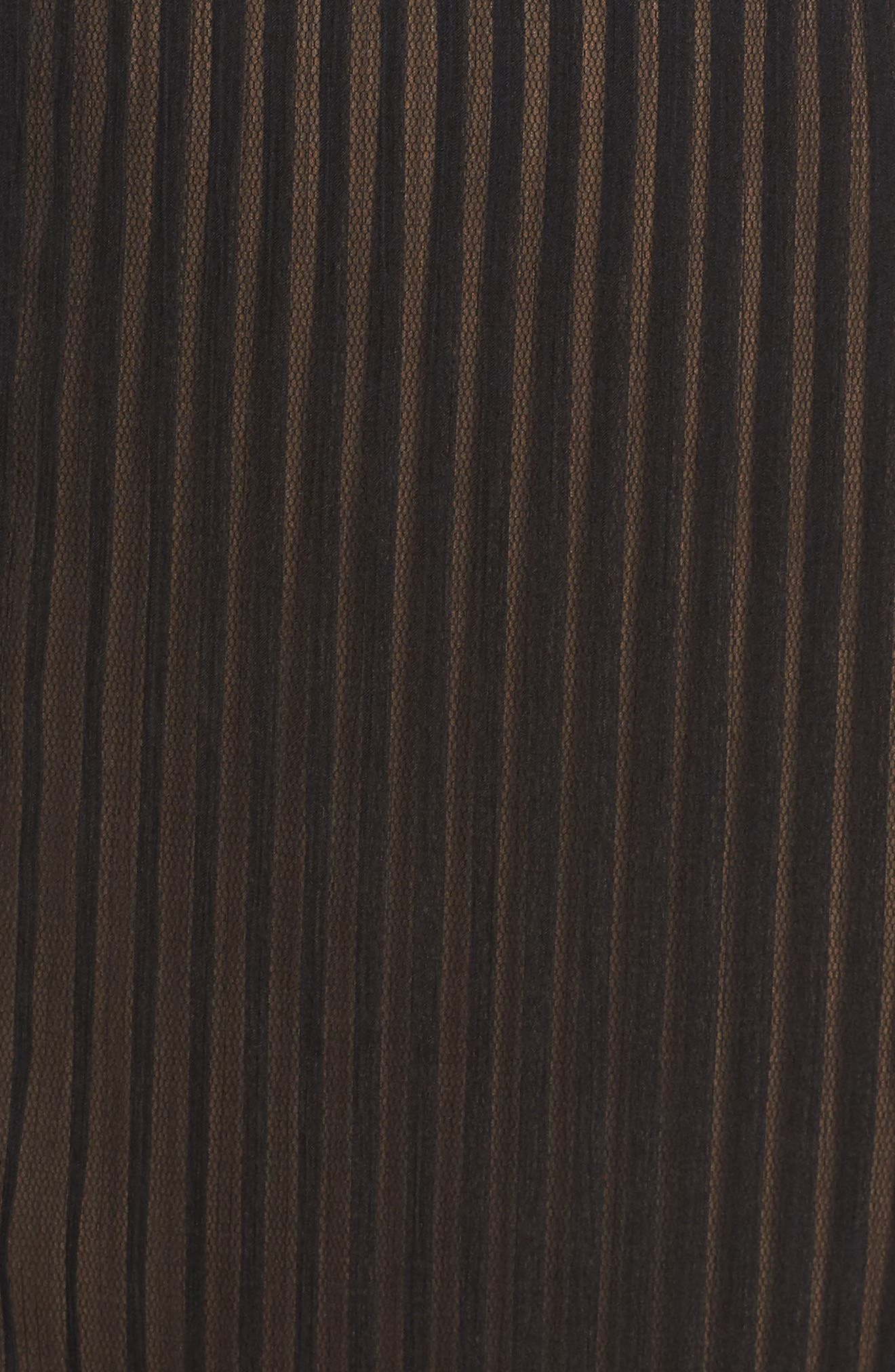 Lace & Chiffon A-Line Dress,                             Alternate thumbnail 5, color,                             Black/ Nude