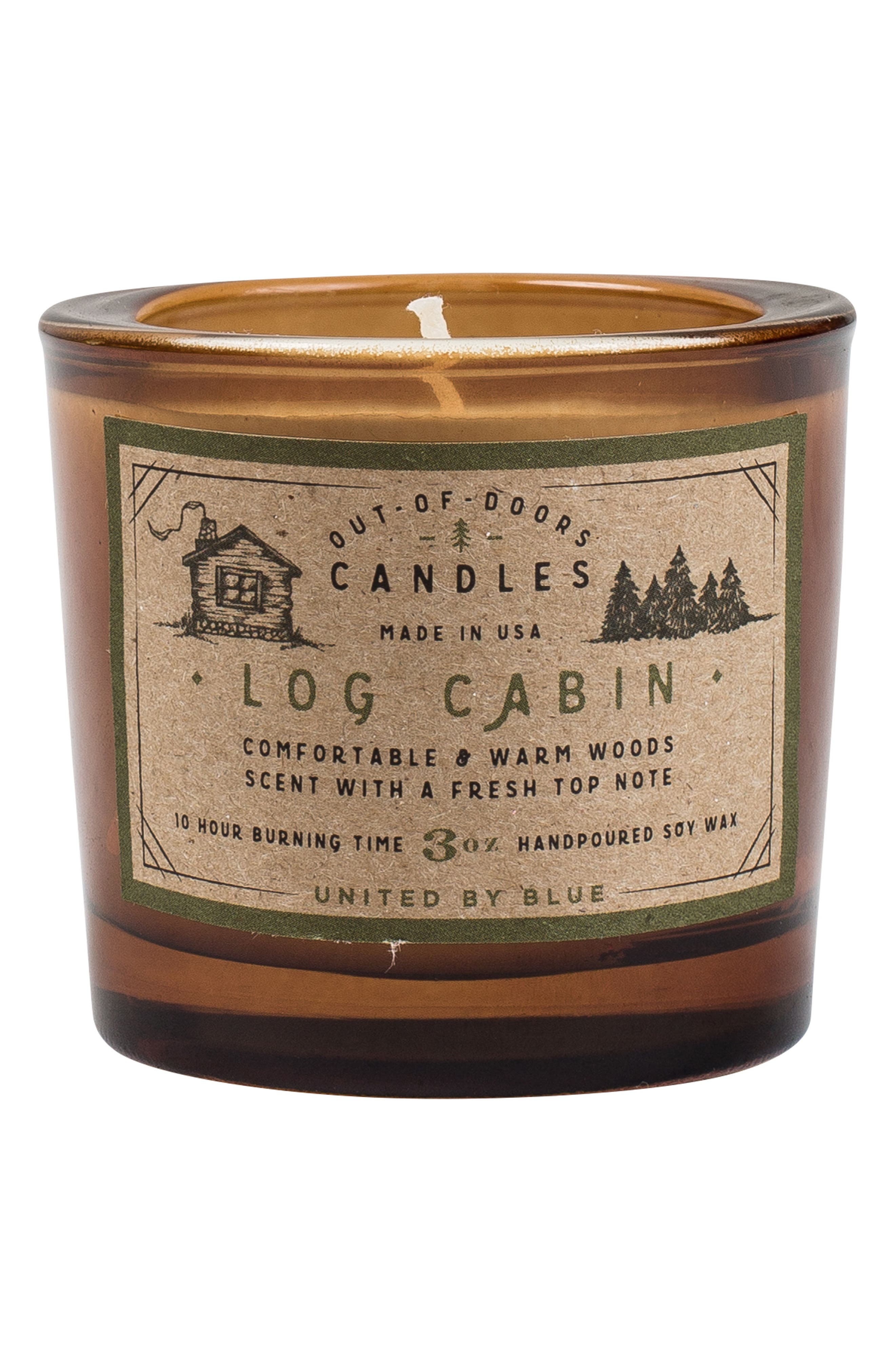 Log Cabin Out of Doors Scented Candle,                             Main thumbnail 1, color,                             Log Cabin