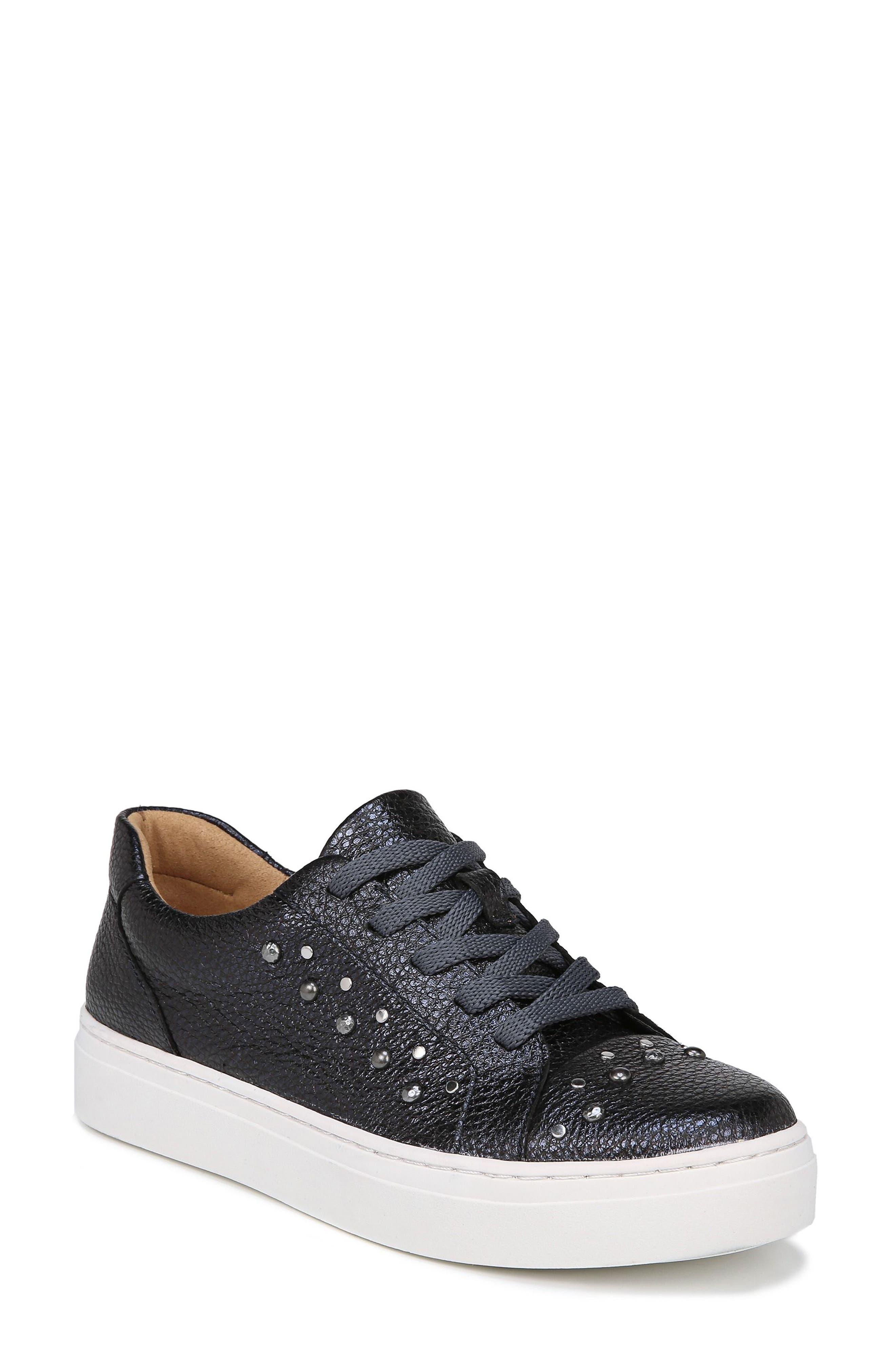Cairo Sneaker,                         Main,                         color, Blue Metallic Leather