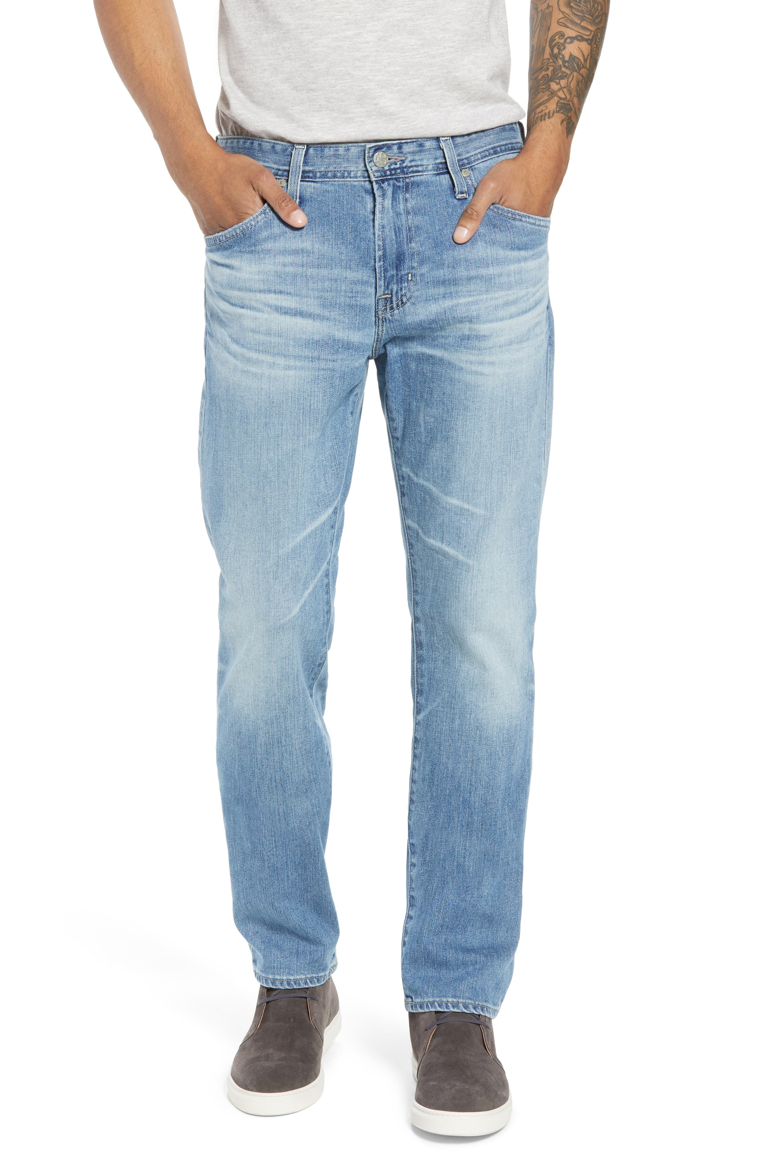 Everett Slim Straight Fit Jeans,                             Main thumbnail 1, color,                             18 Years Oceano