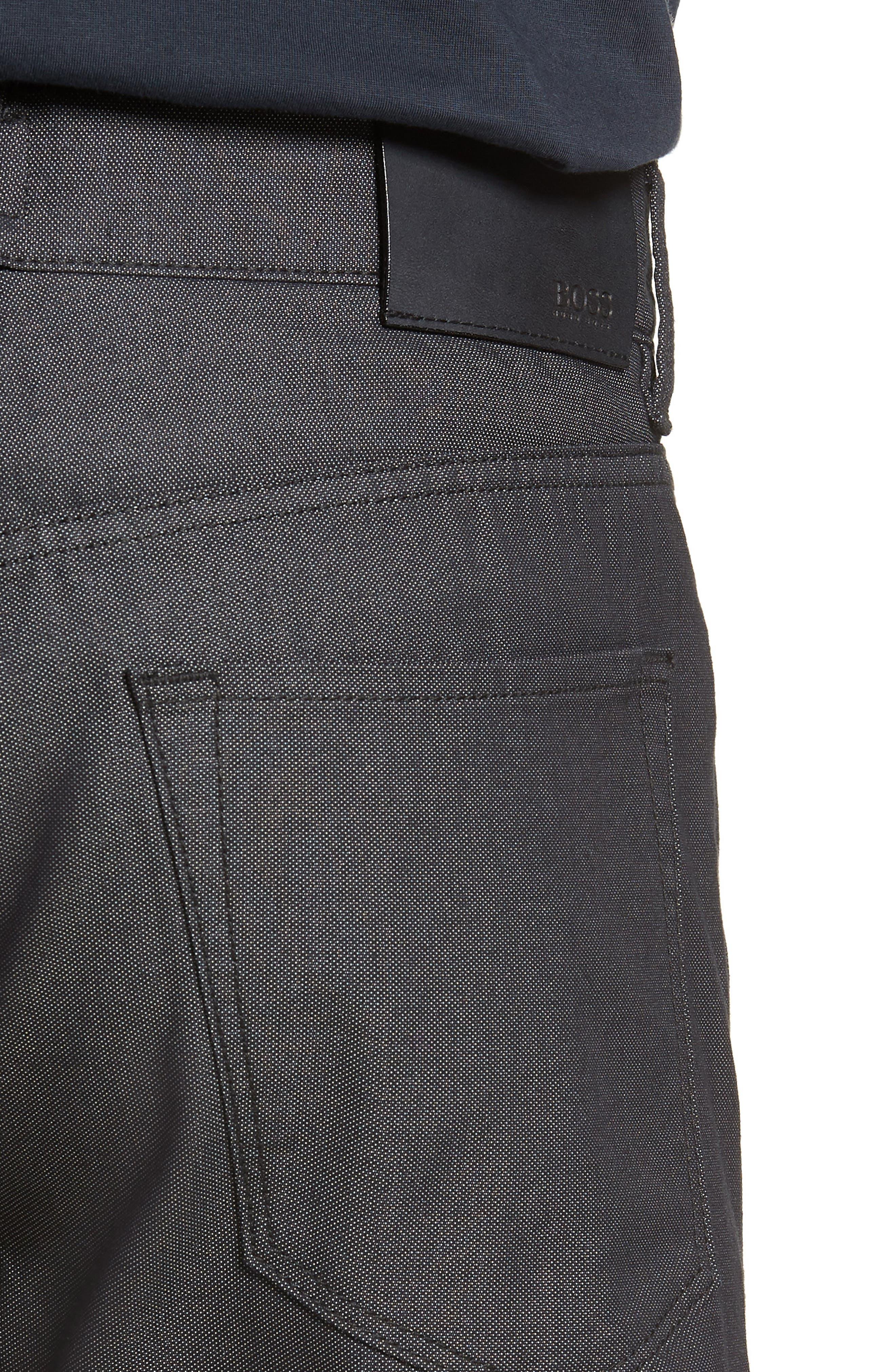 Maine Straight Leg Jeans,                             Alternate thumbnail 4, color,                             Black