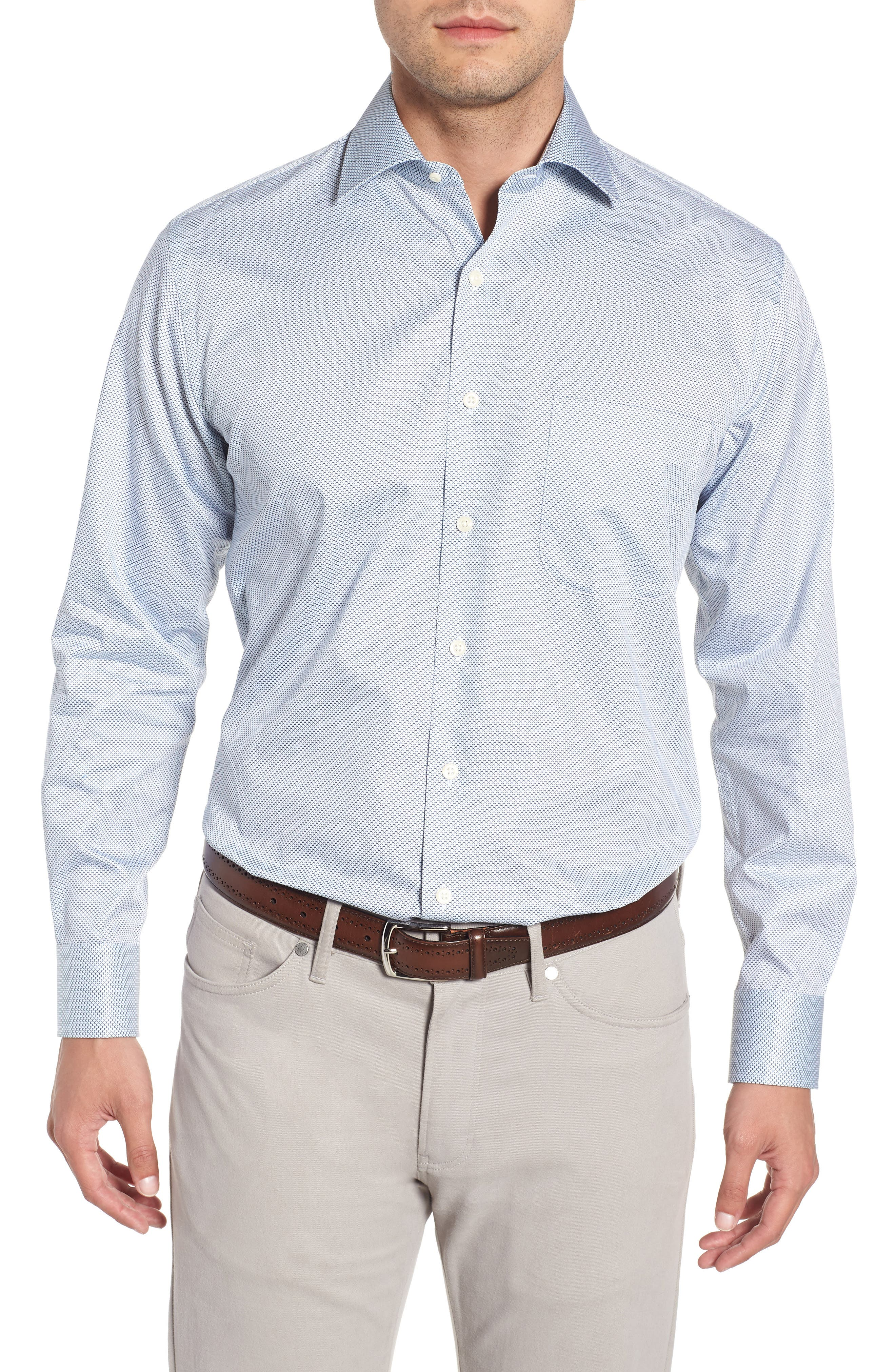 Off the Scale Print Sport Shirt,                         Main,                         color, White