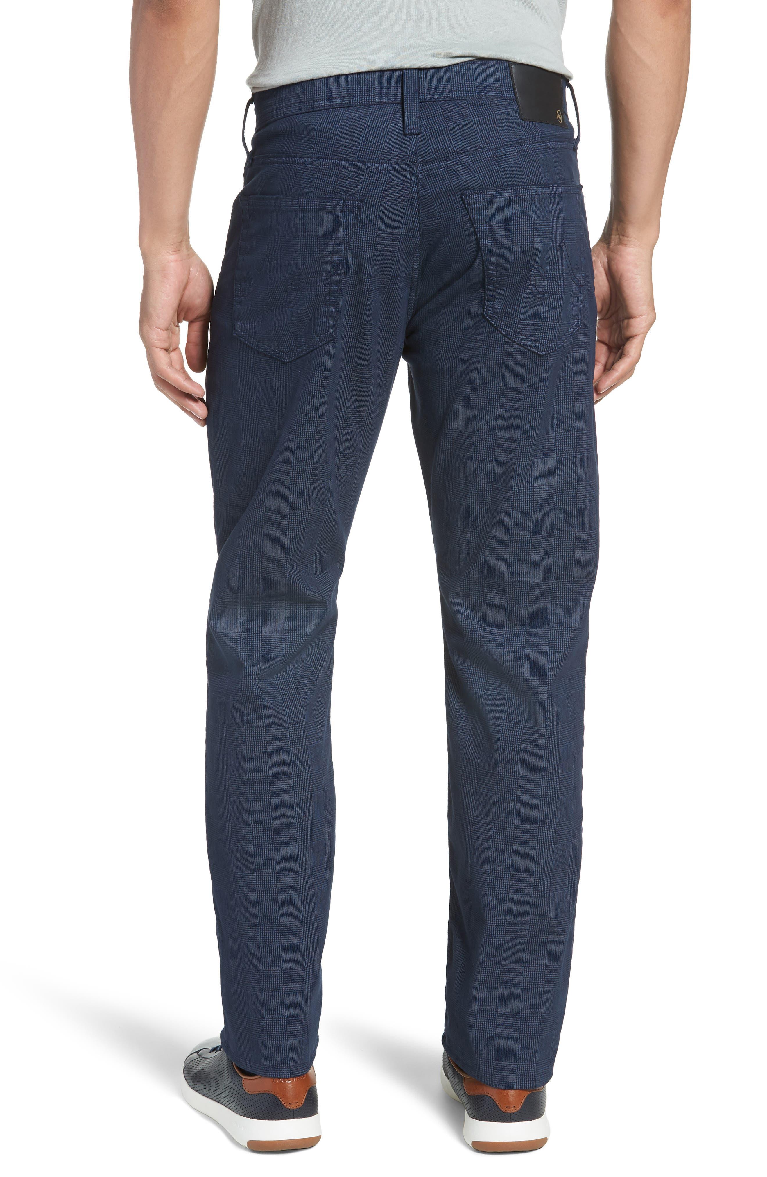 Herringbone Everett SUD Straight Leg Pants,                             Alternate thumbnail 2, color,                             Fine Plaid Blue Vault