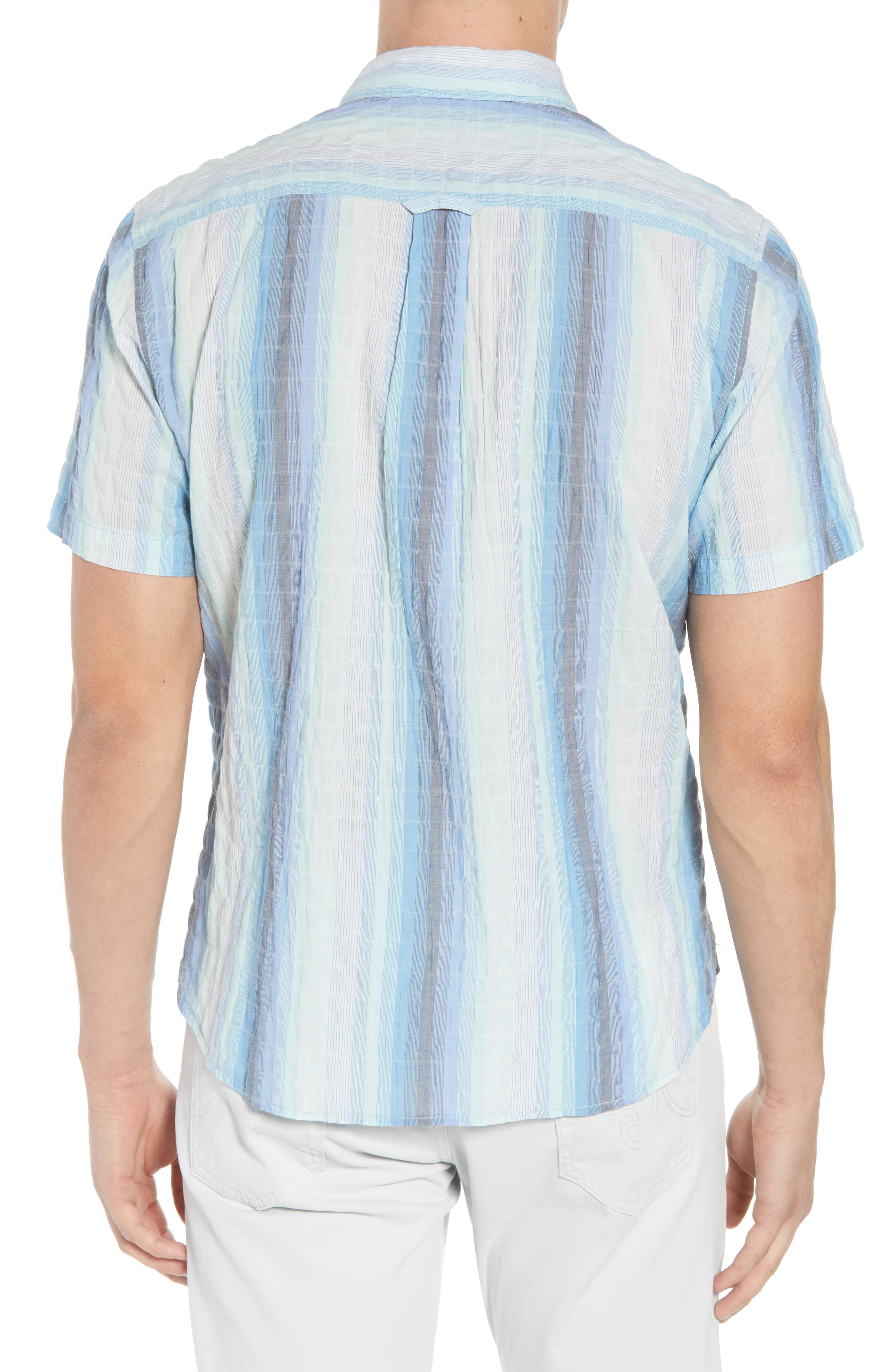 La Prisma Stripe Sport Shirt,                             Alternate thumbnail 3, color,                             Mint Mojito