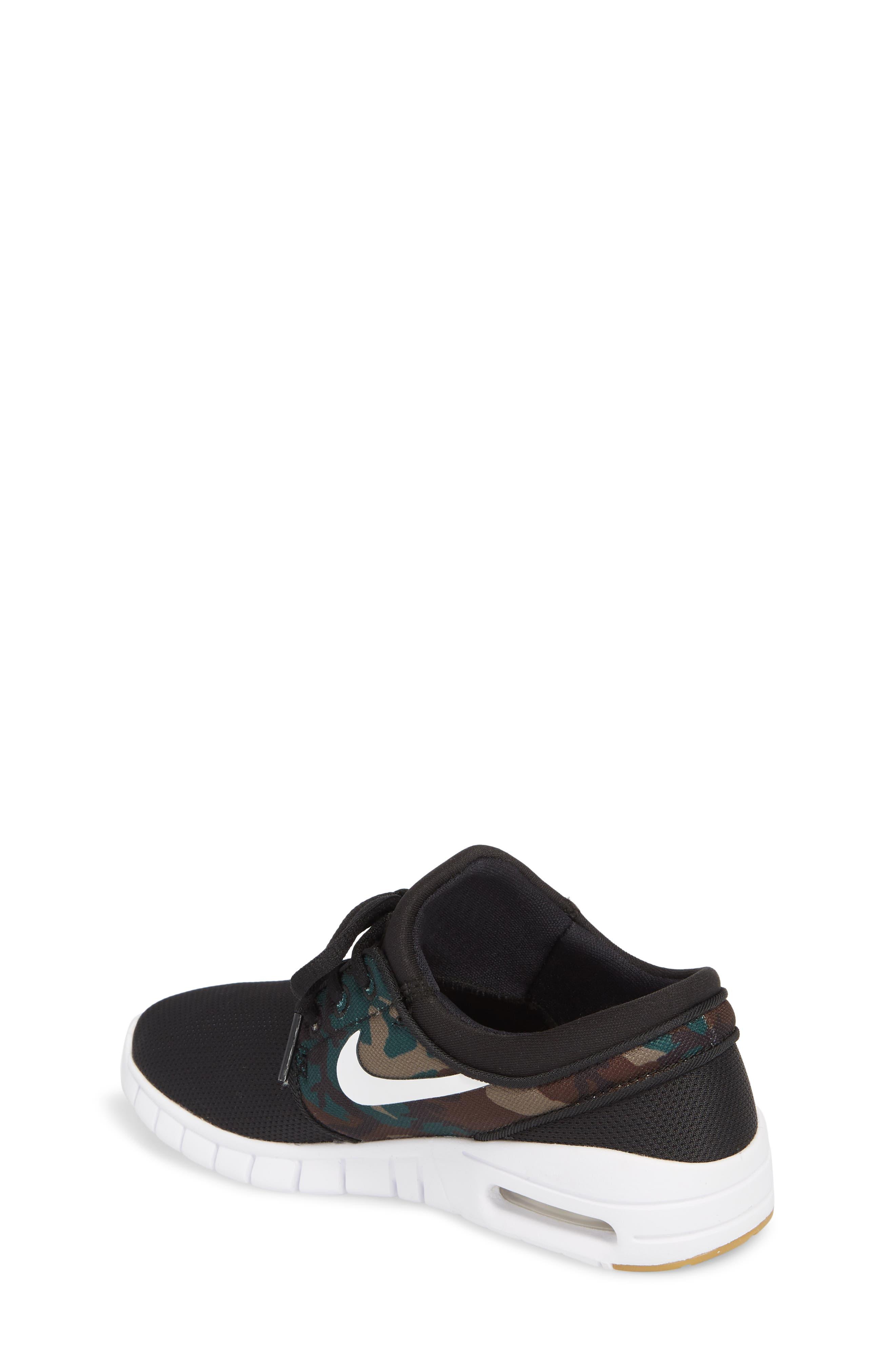 Stefan Janoski Max SB Skate Sneaker,                             Alternate thumbnail 2, color,                             Black/ White/ Olive/ Brown