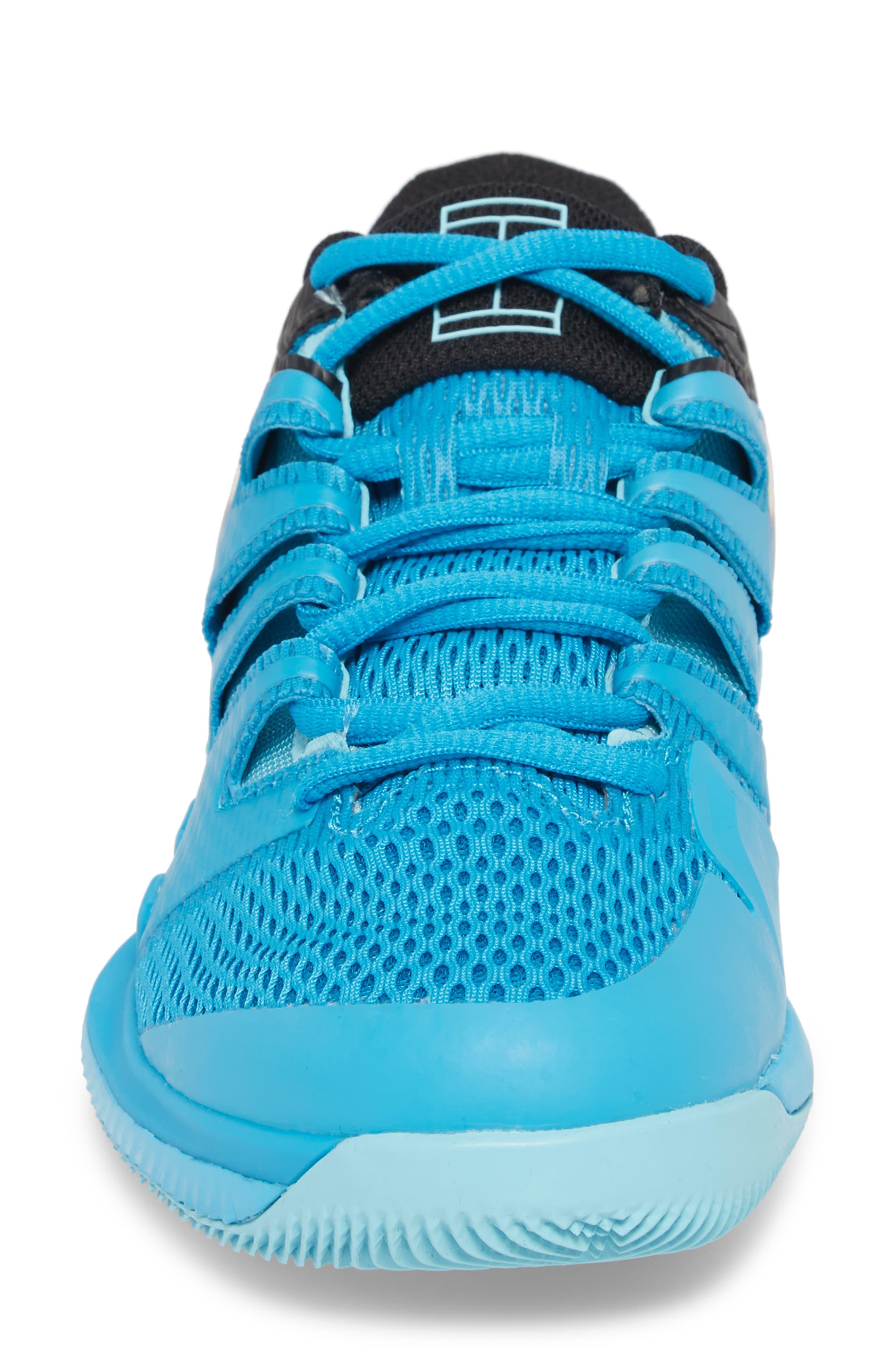 Air Zoom Vapor X Tennis Shoe,                             Alternate thumbnail 4, color,                             Light Blue Fury