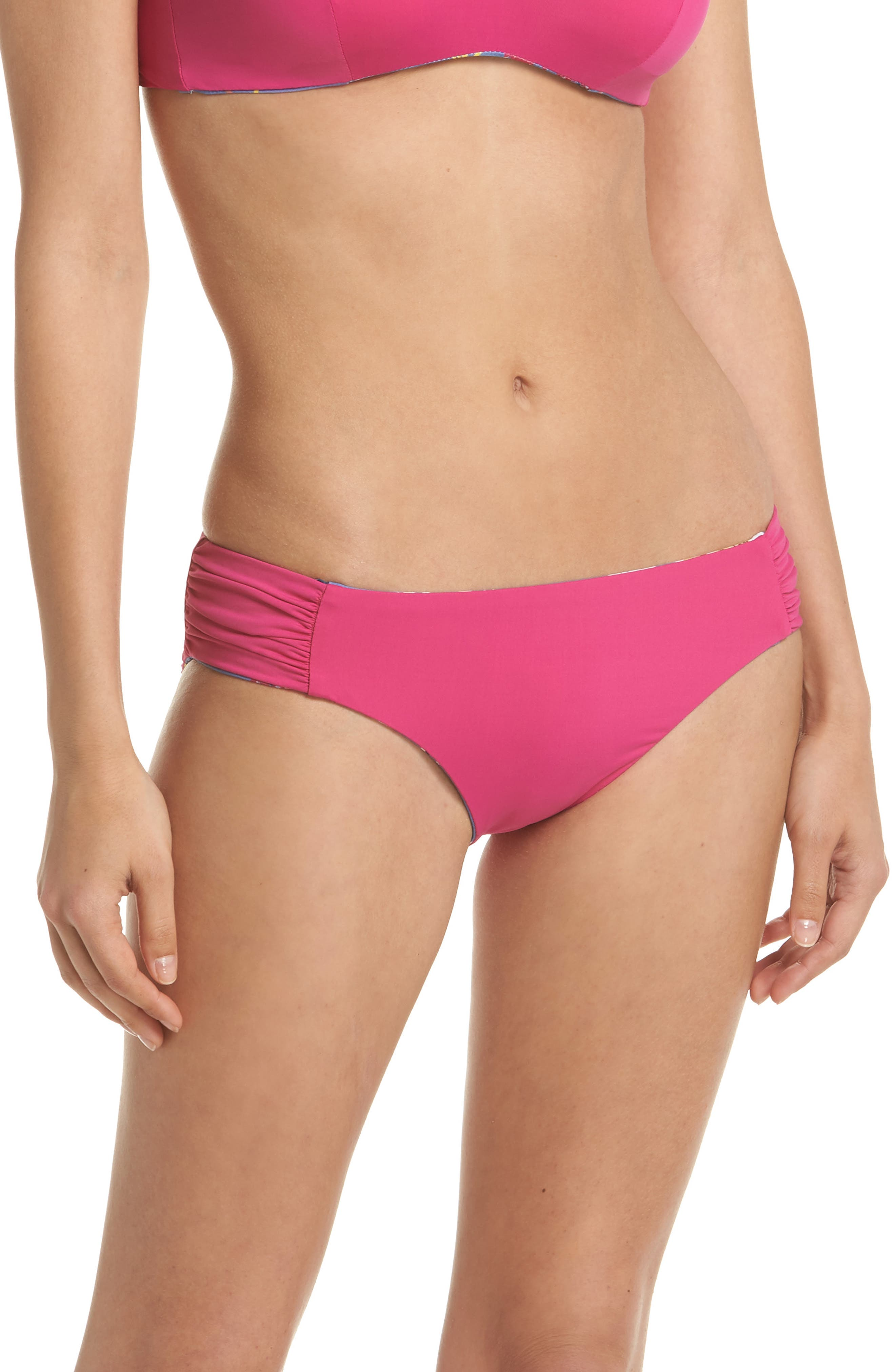 Victoria Garden Reversible Bikini Bottoms,                             Alternate thumbnail 2, color,                             Purple/ Blue Multi
